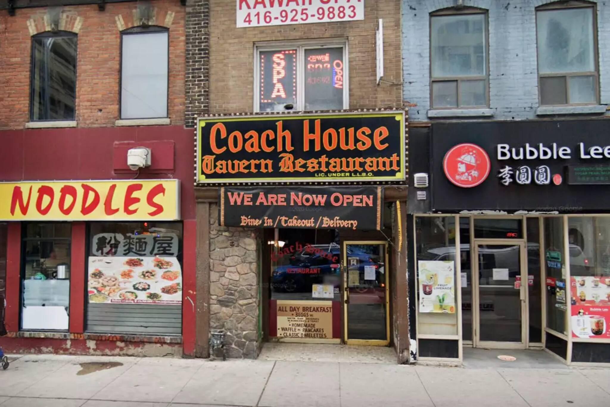 coach house restaurant toronto