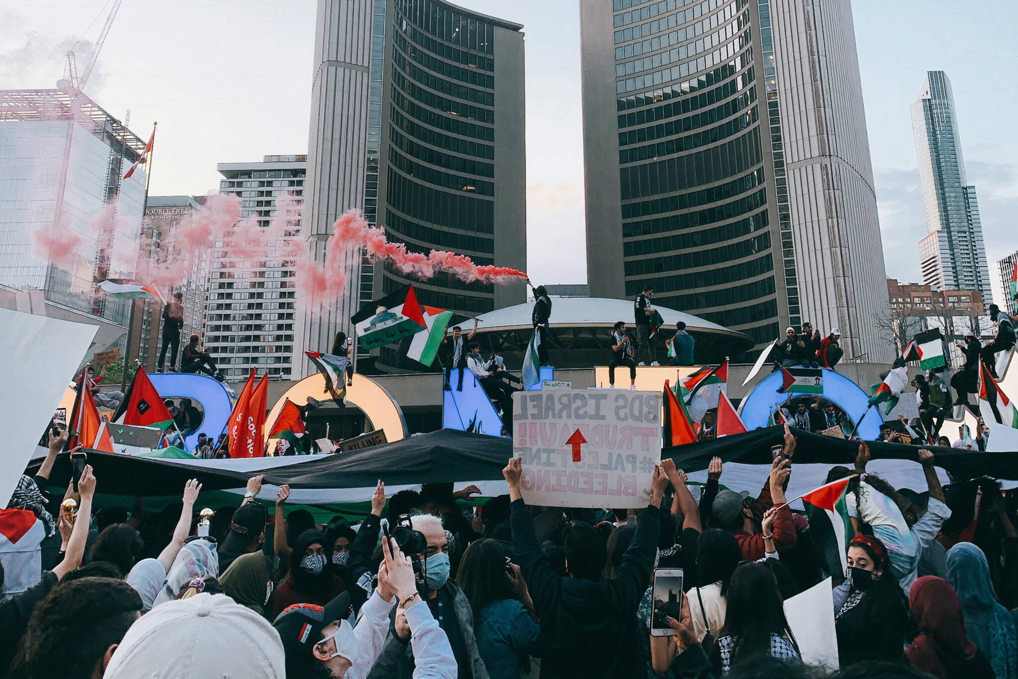 violent protest toronto