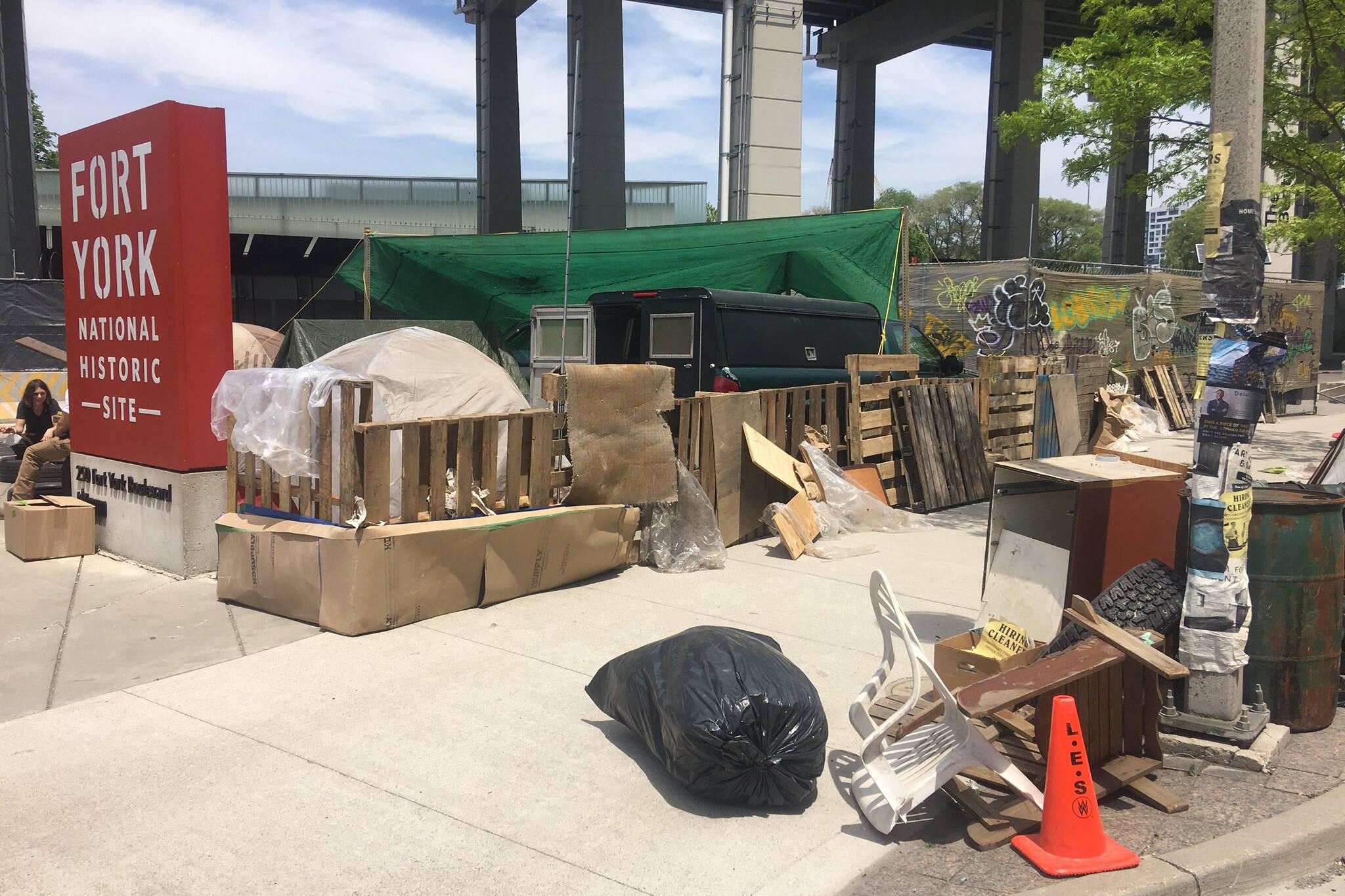 fake encampment toronto