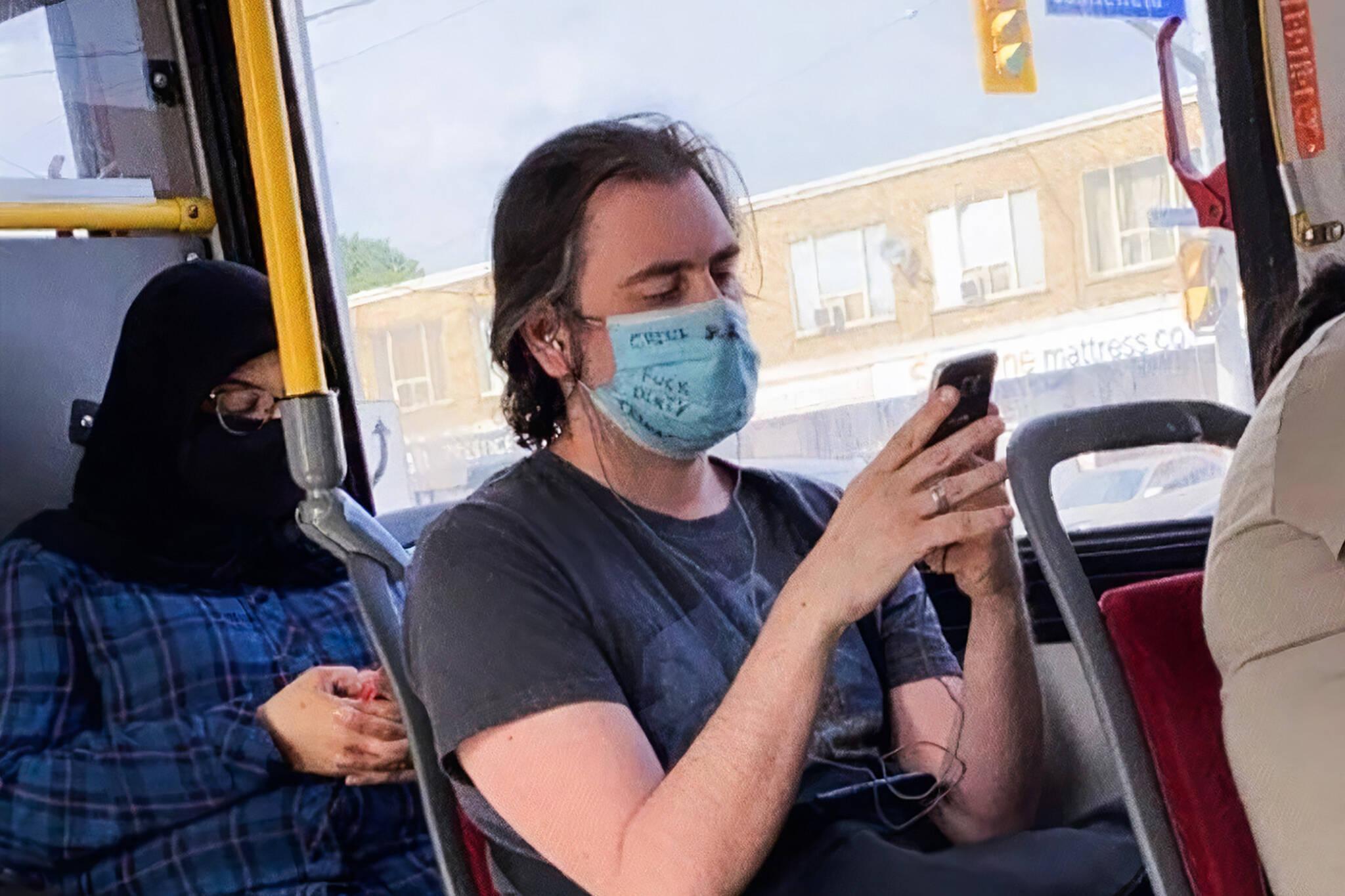 racist mask toronto