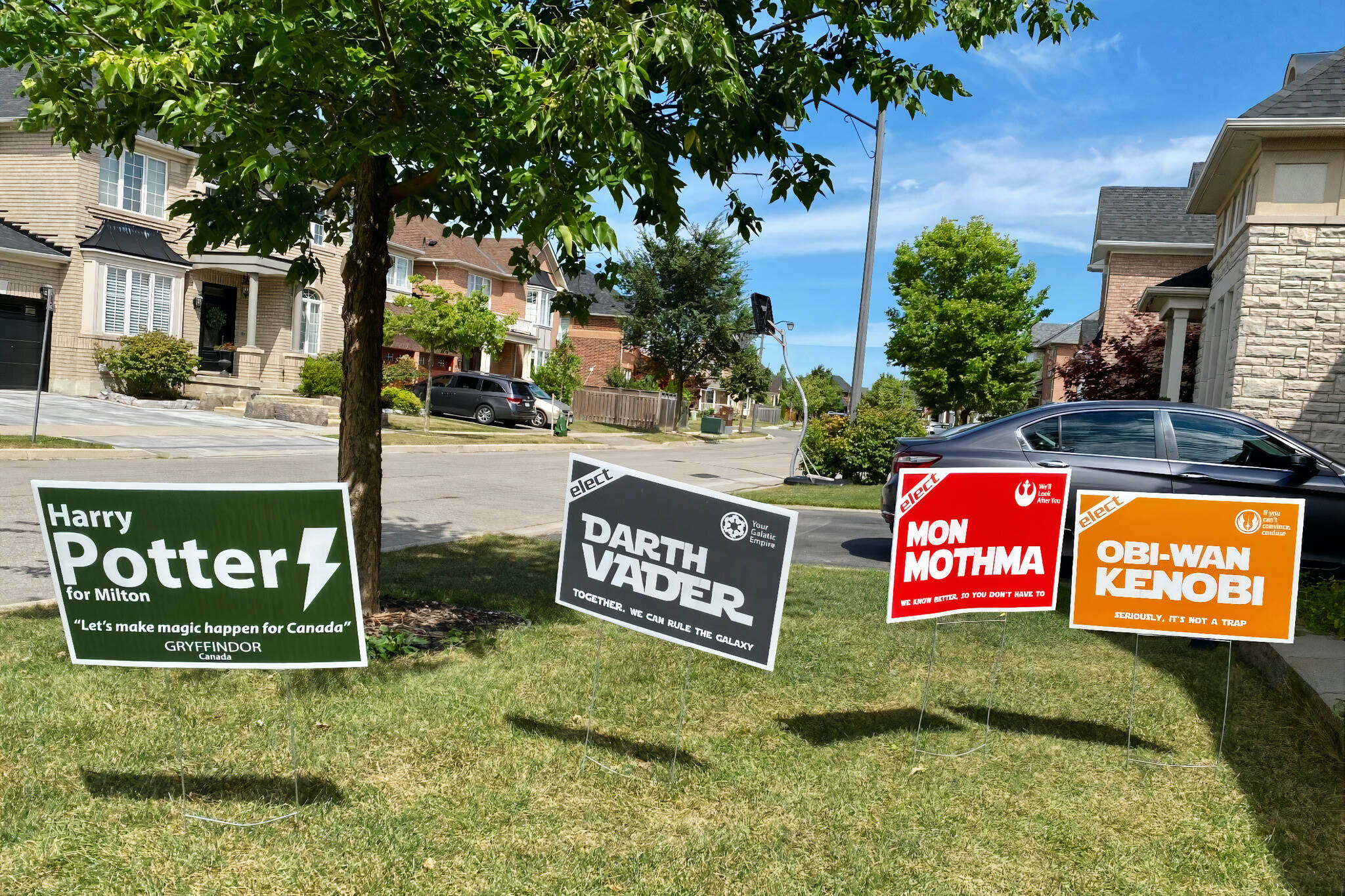 star wars election signs