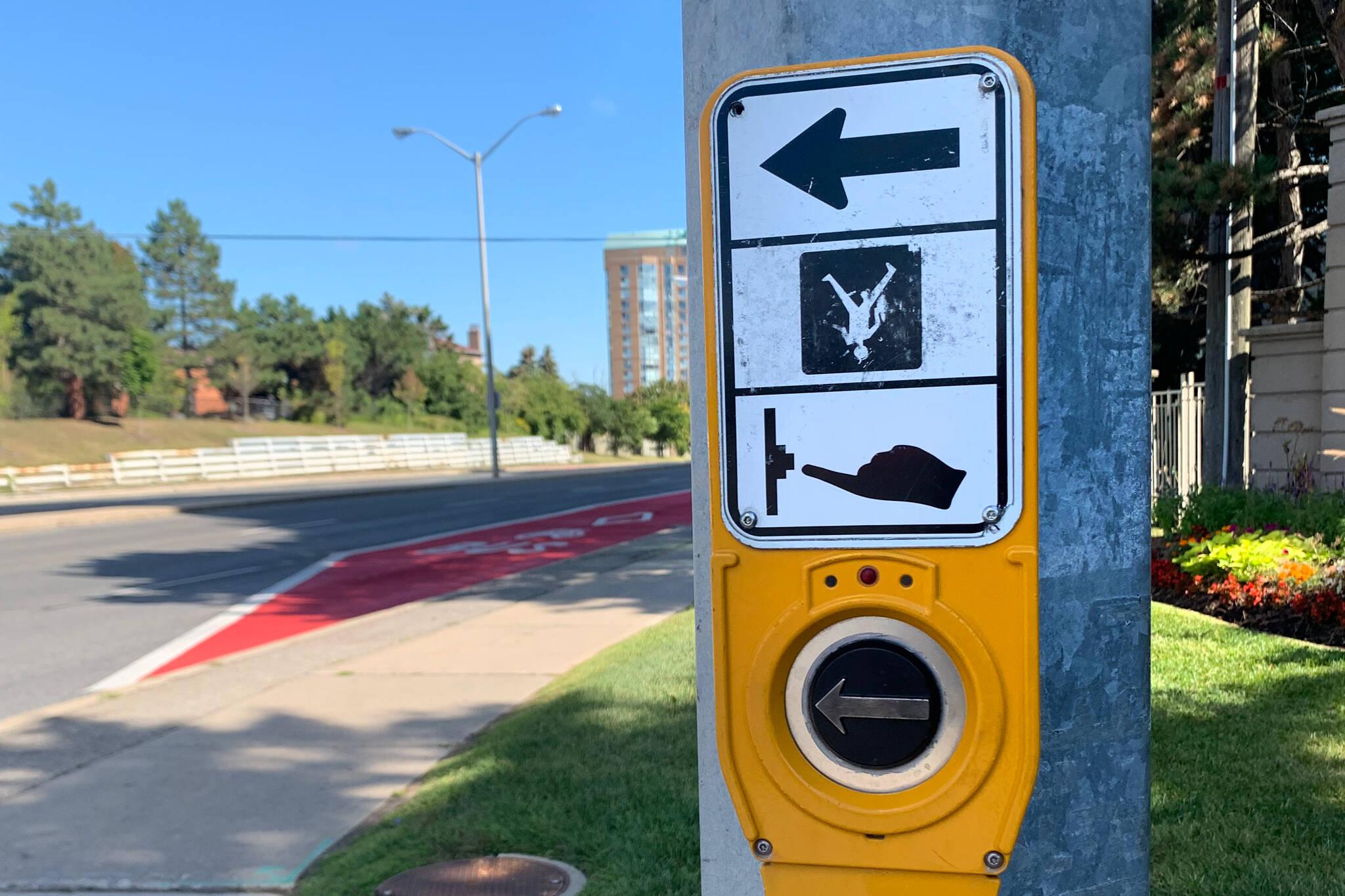 crosswalk sign toronto