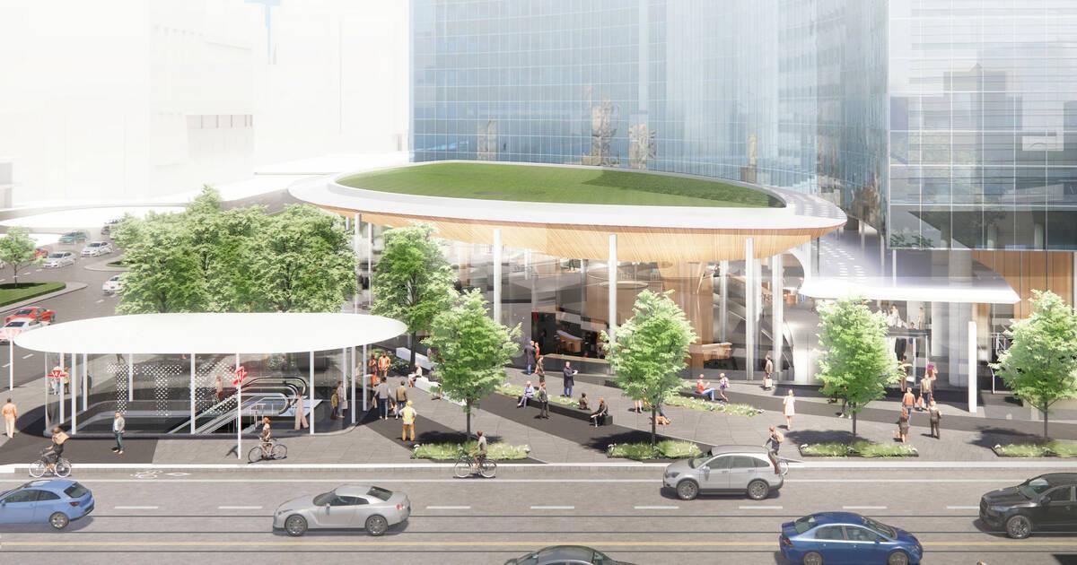 巨大な塔と新しい地下鉄の入り口はすぐにトロントの交差点を変える可能性があります