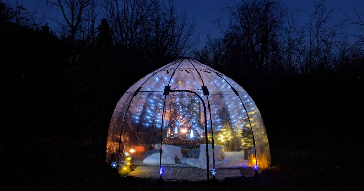bubble picnic backyard heated toronto