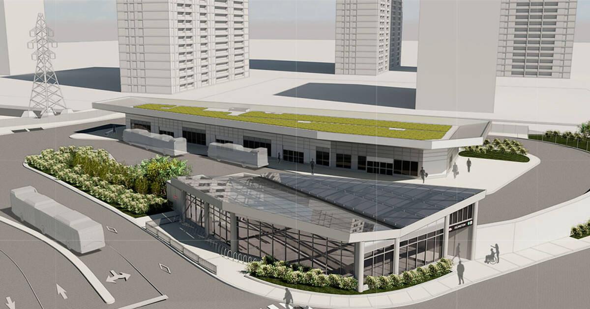 TTCの新しいバスターミナルは次のようになります