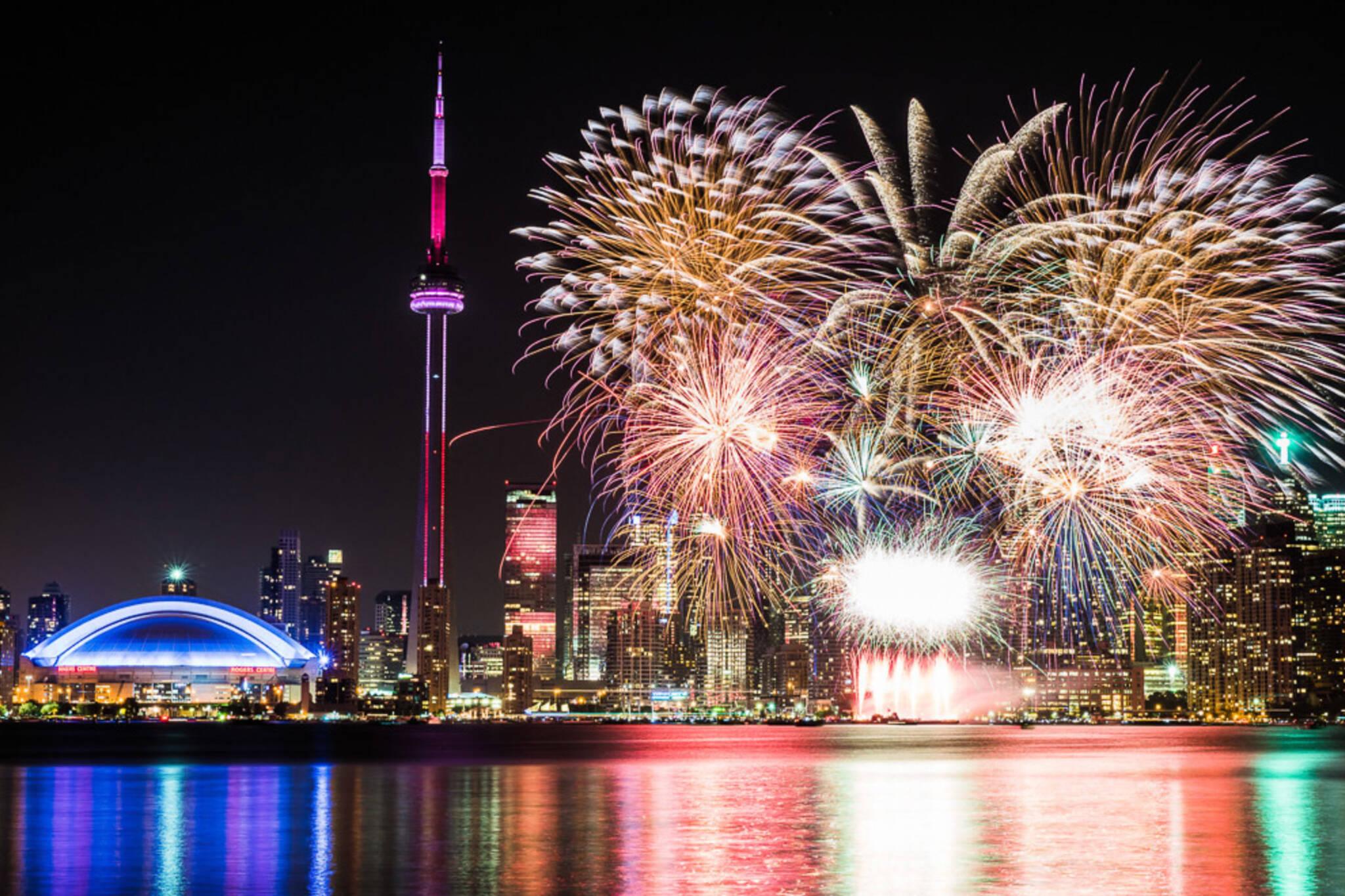 fireworks canada day 2021 toronto