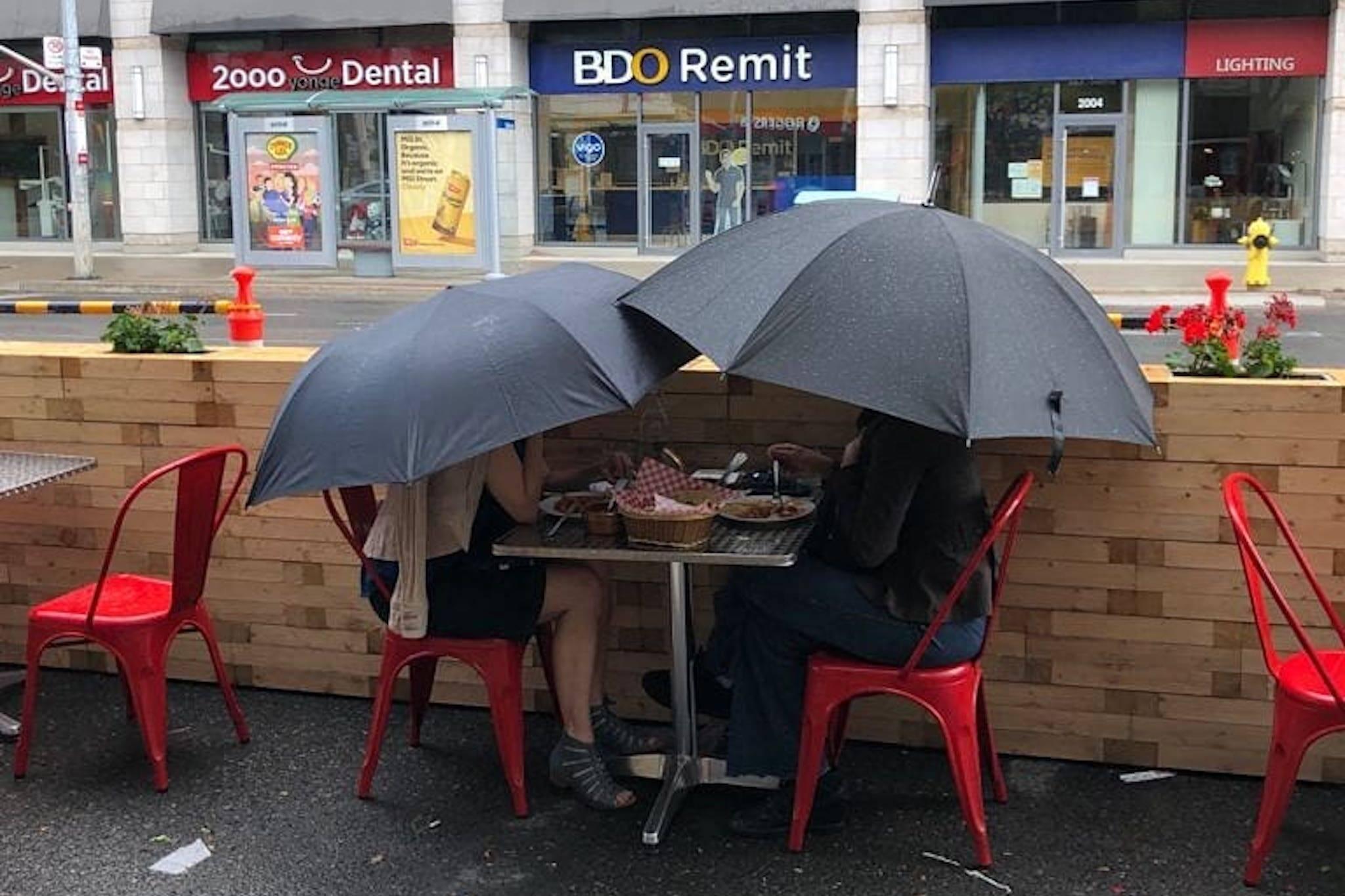 patios rain toronto