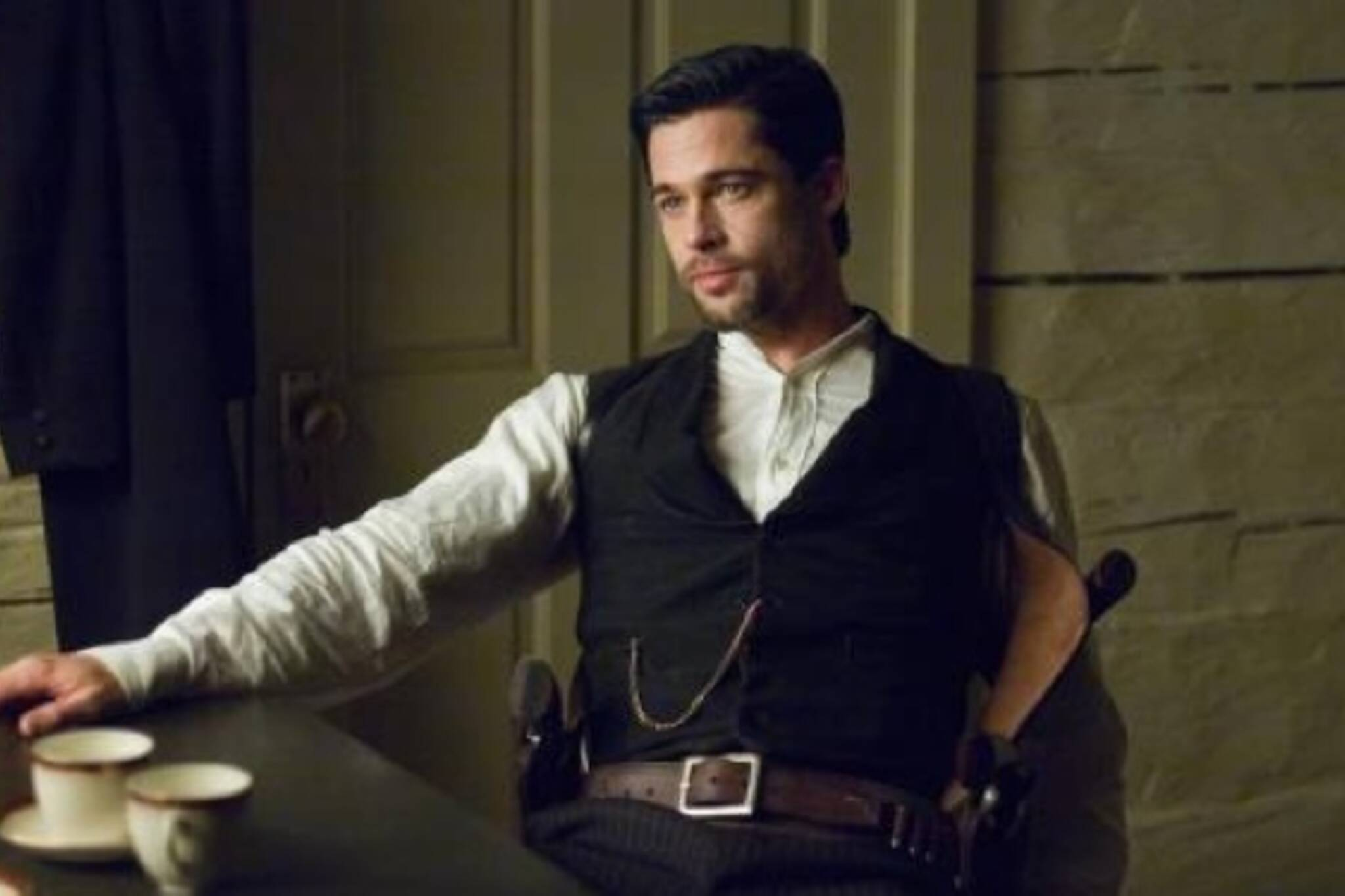 Brad Pitt in The Assassination of Jesse James by the Coward Robert Ford.