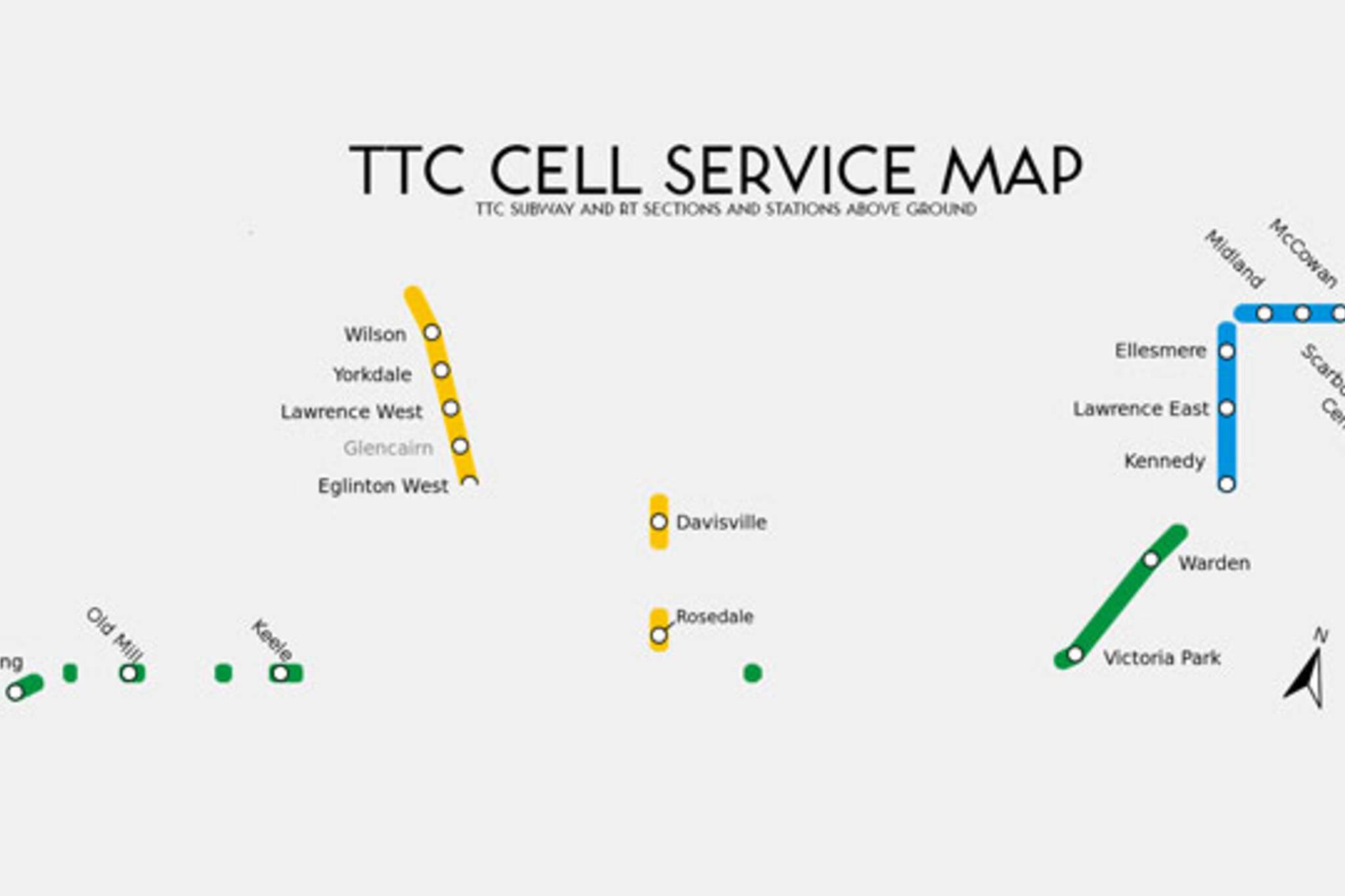 TTC Cellular Service Map