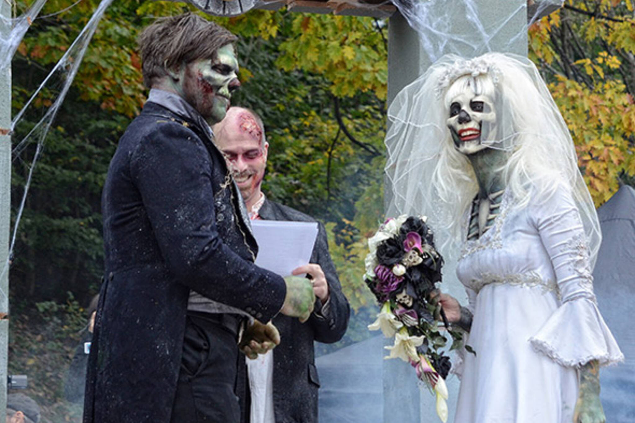 Image result for zombie wedding