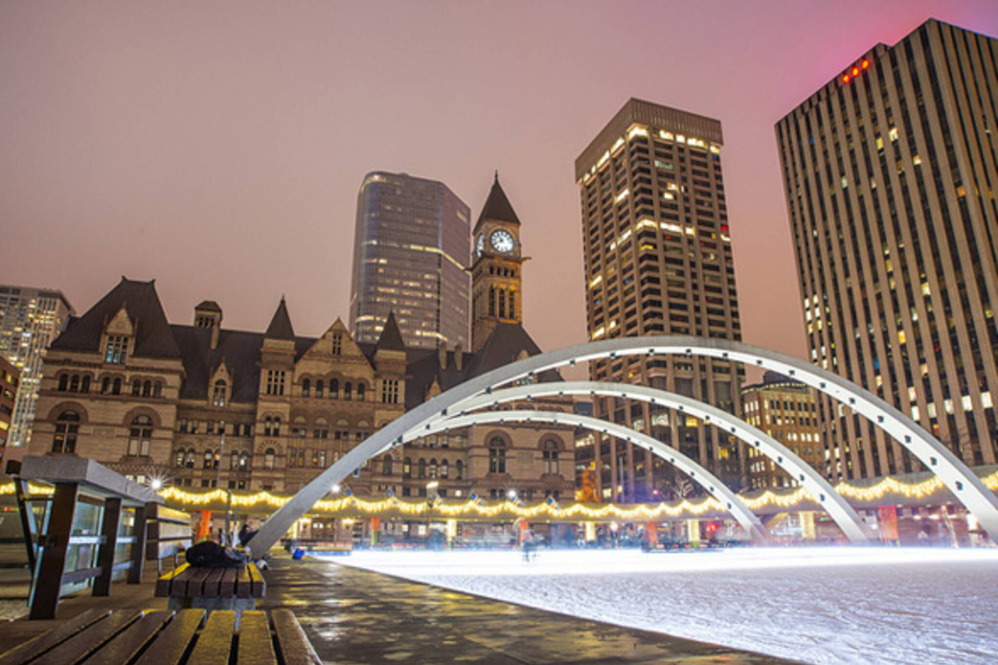 City Hall Toronto Ice Rink