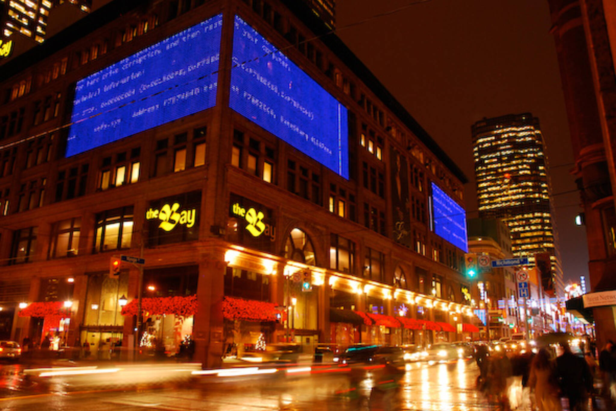 World's Largest Blue Screen of Death