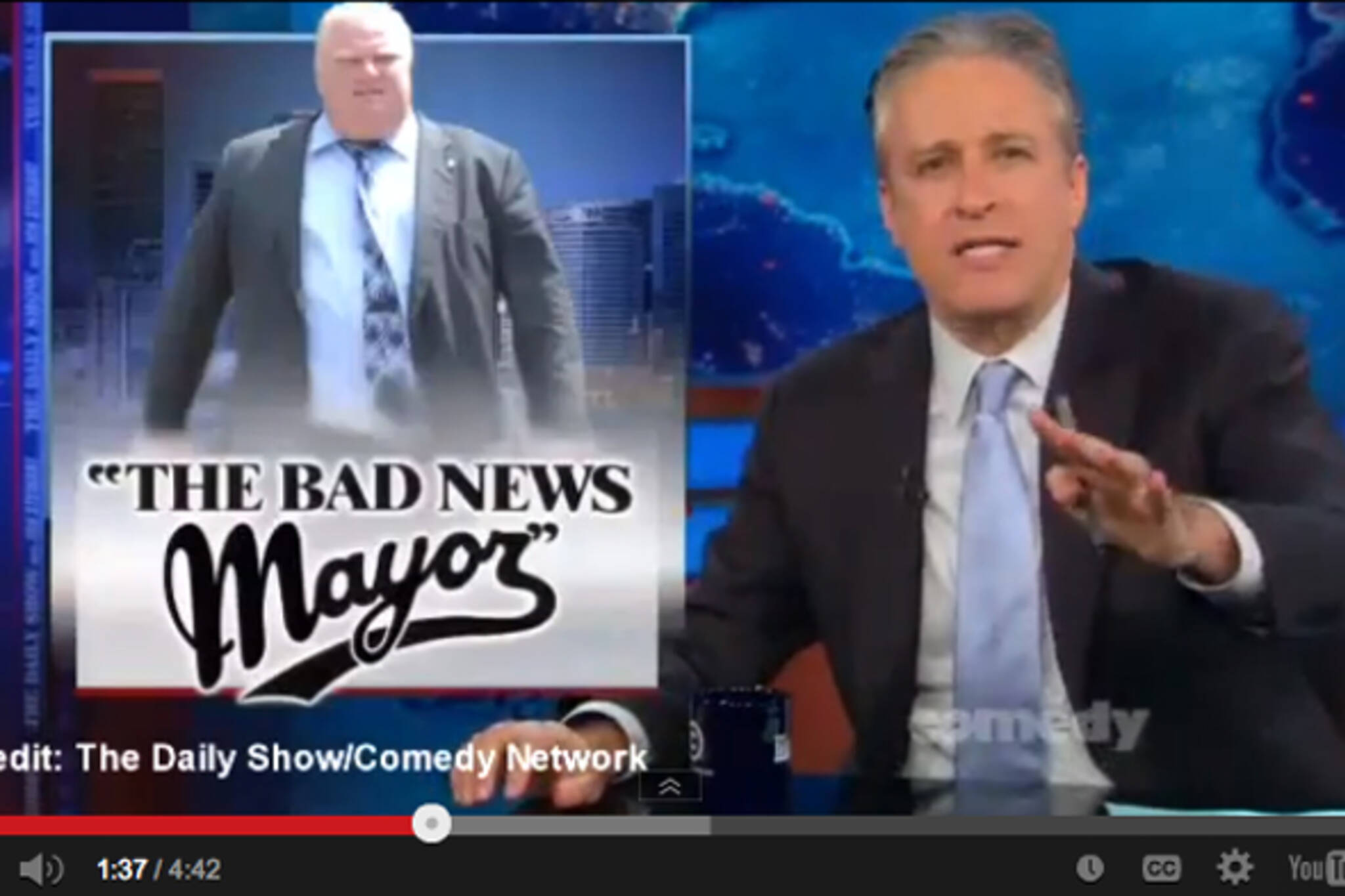 Rob Ford rehab late night TV