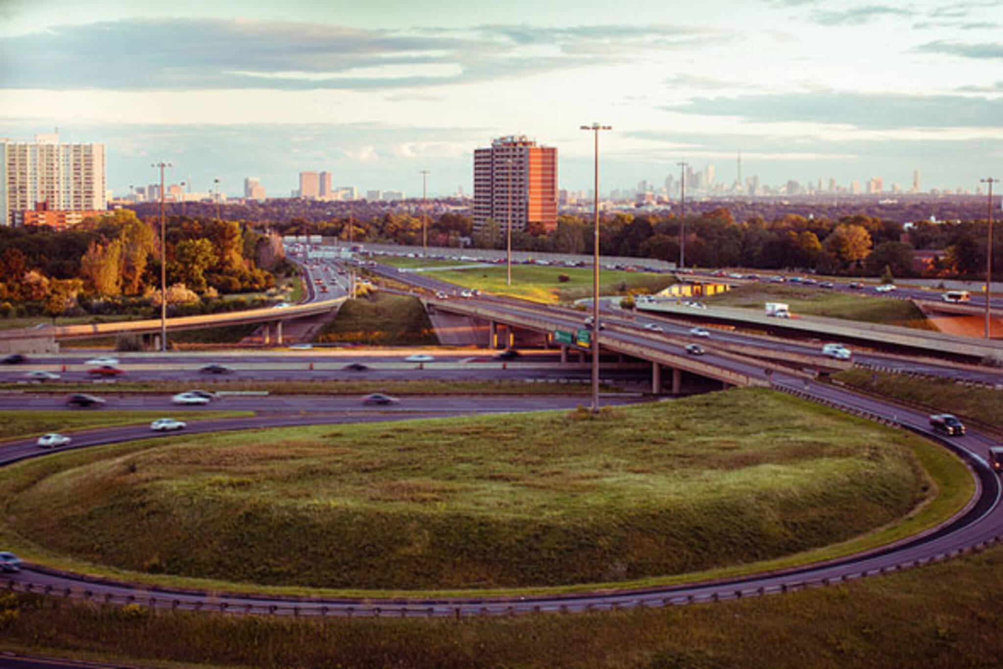 toronto highway skyline