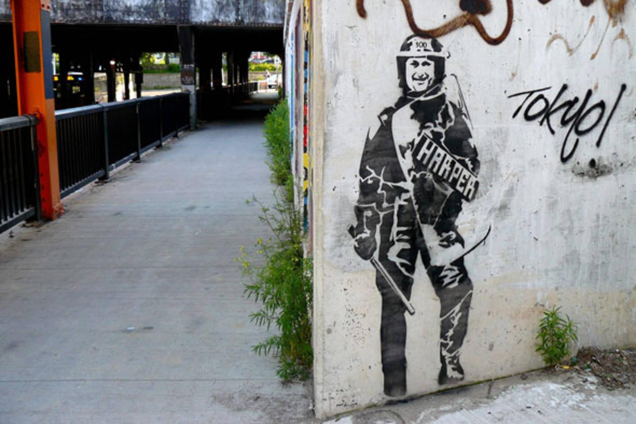 Stephen Harper Street Art