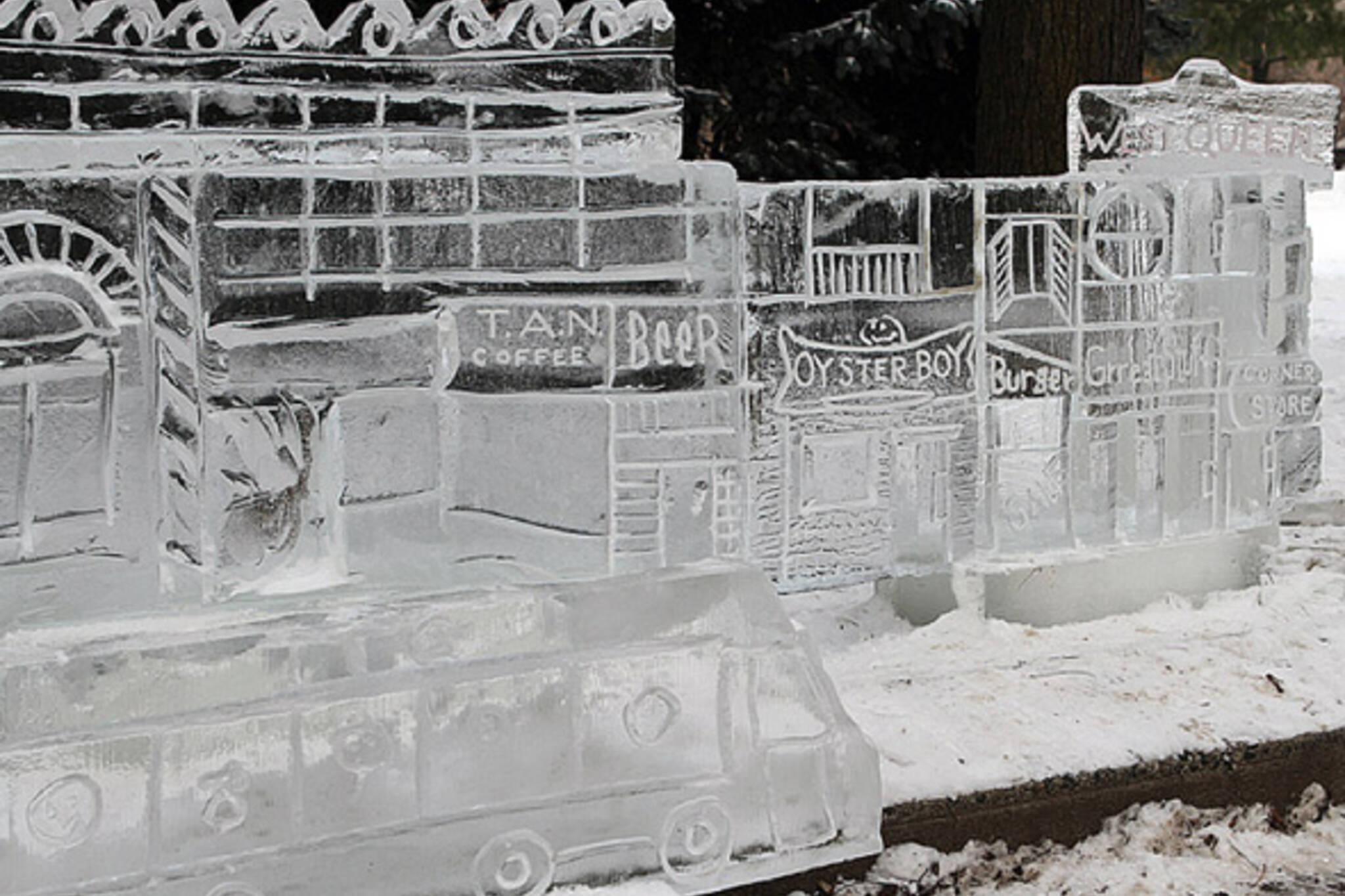 Trinity Bellwoods Ice Sculpture