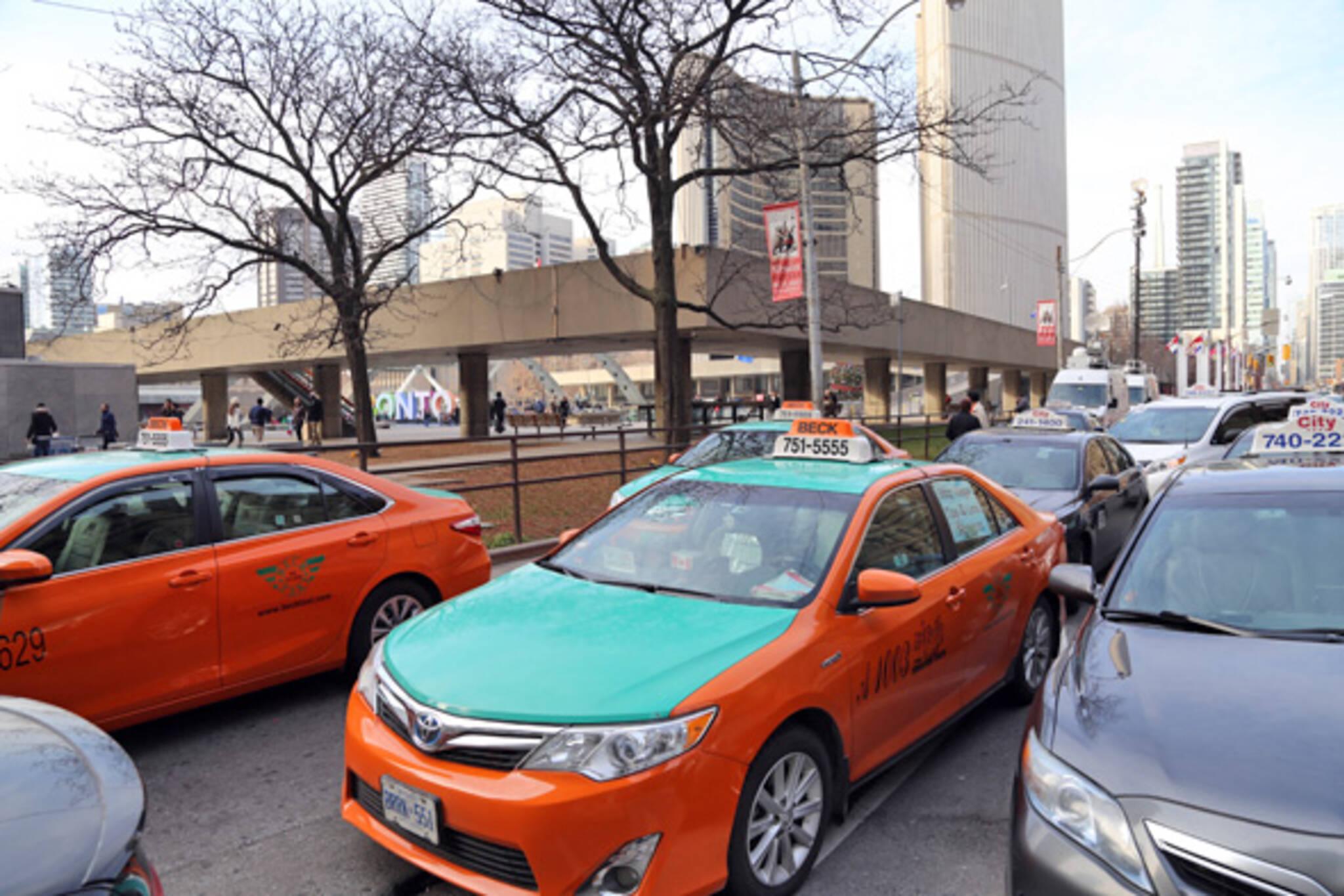 Beck taxi protest Toronto