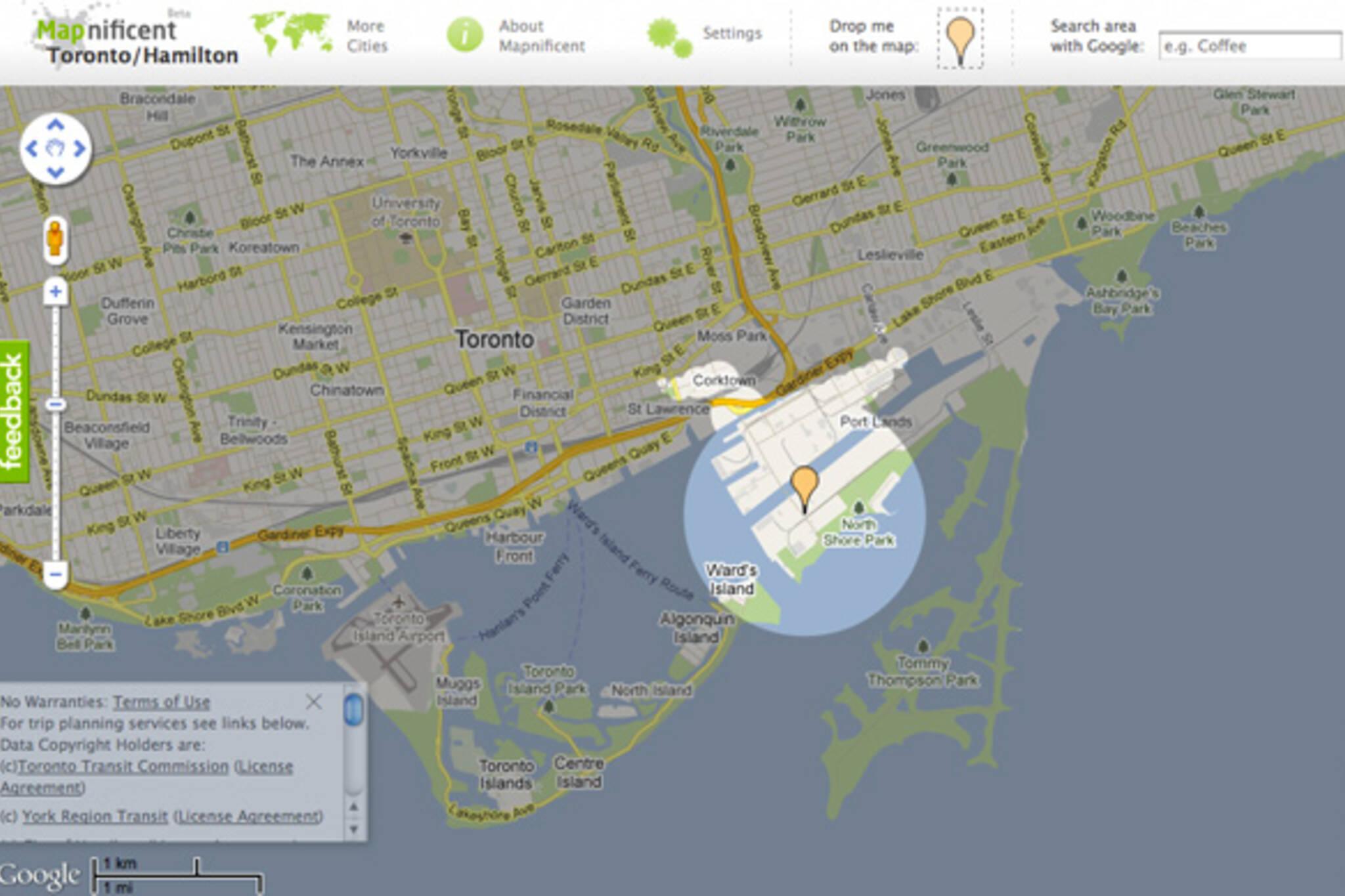 Mapnificent Public Transit App