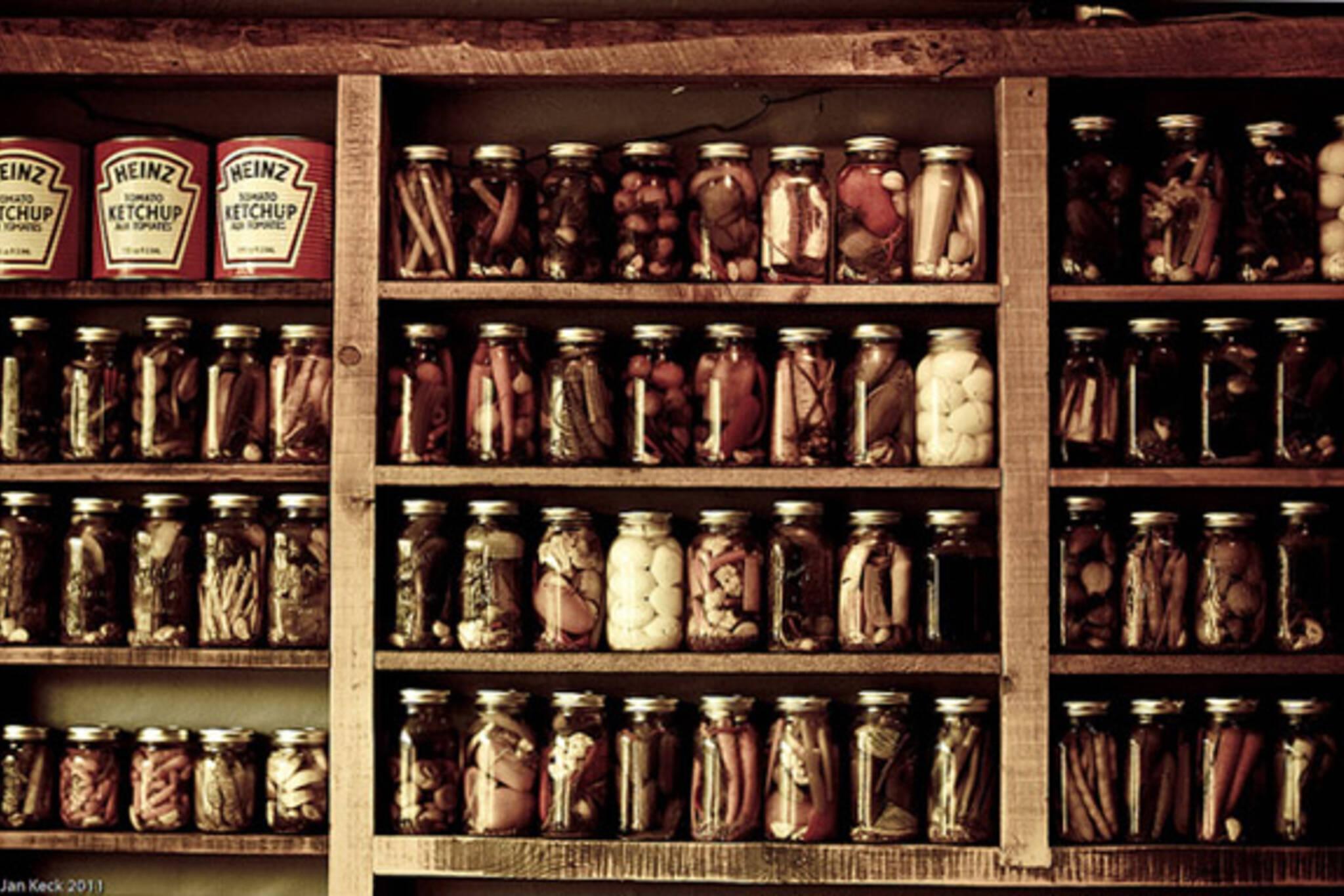 pickled, jars, preserved