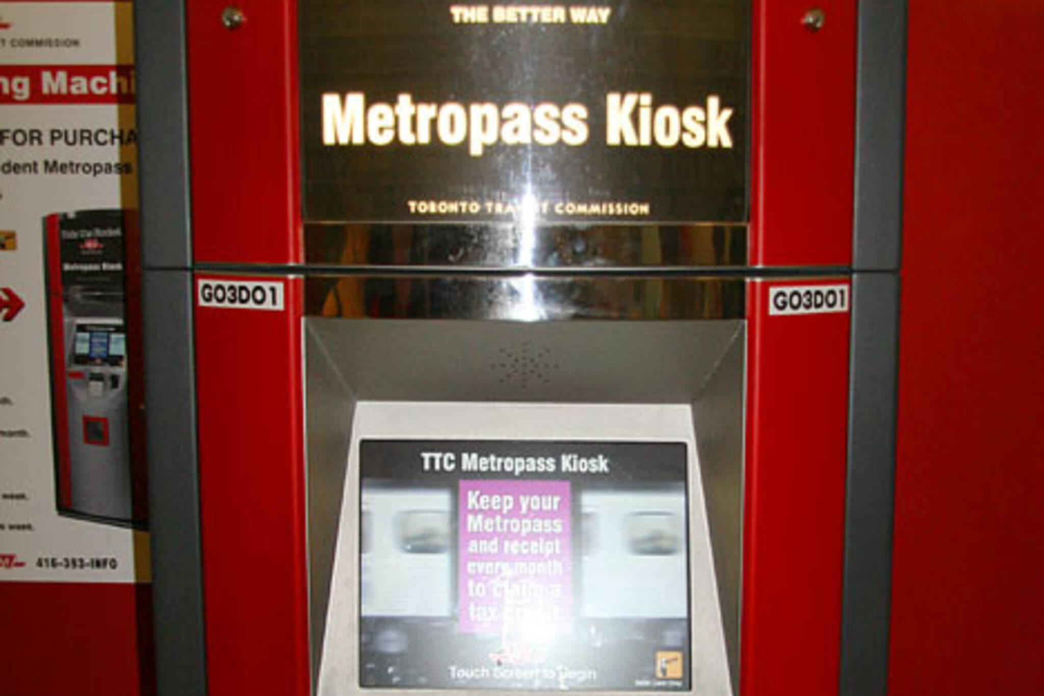 TTC Metropass Kiosk