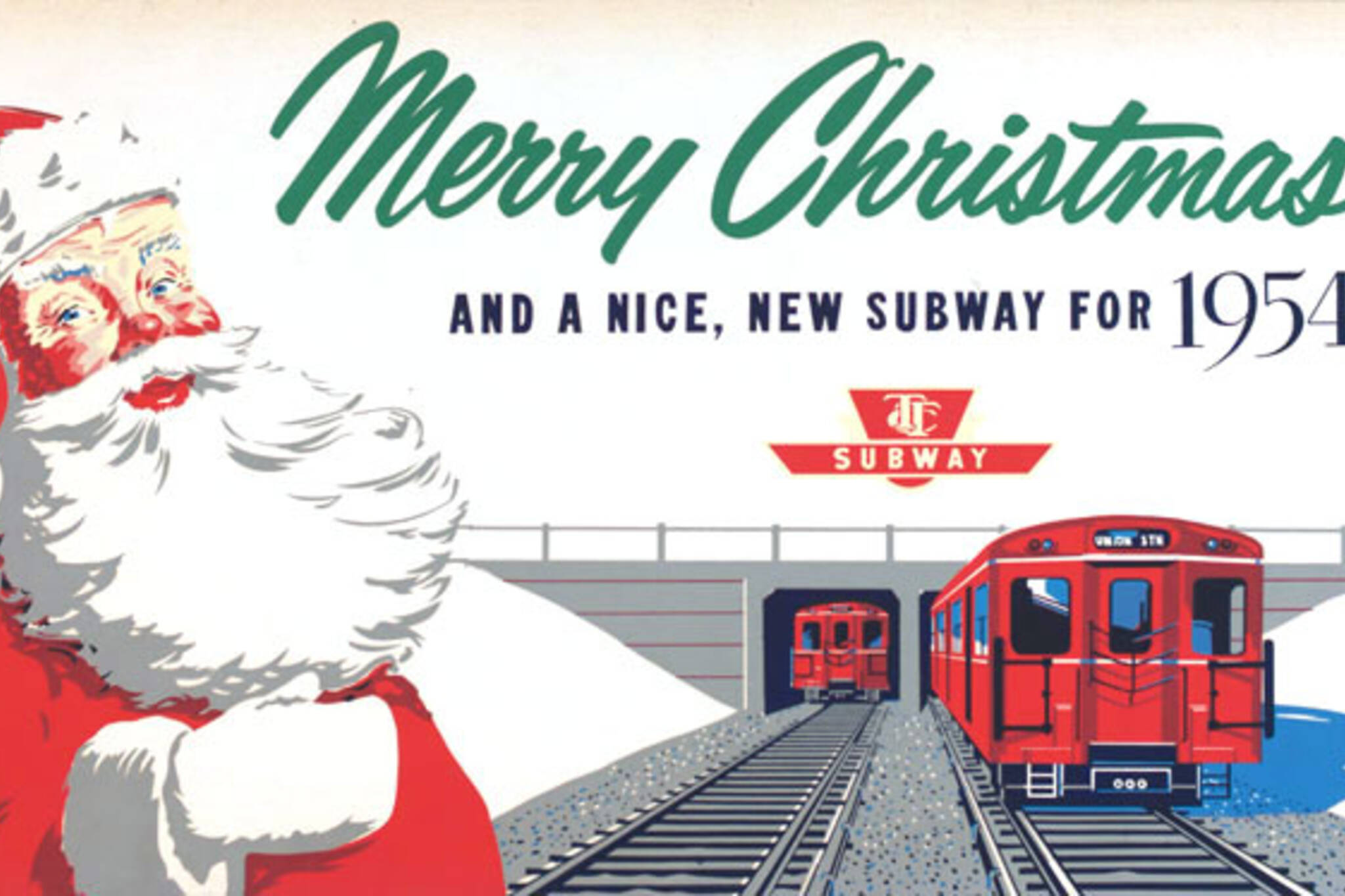 Get into the holiday spirit with vintage TTC ads