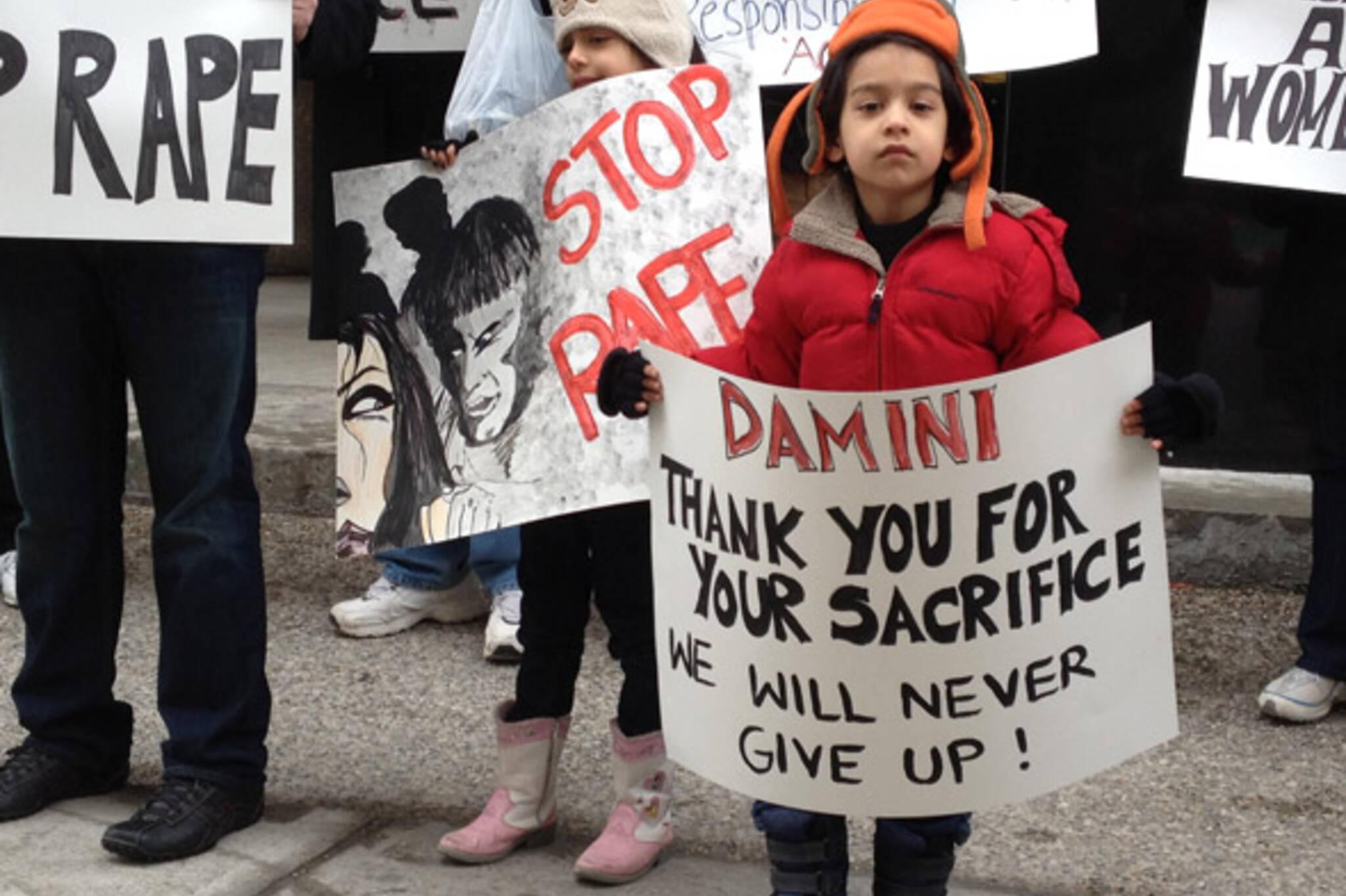 Rape Protest Toronto Indian Embassy