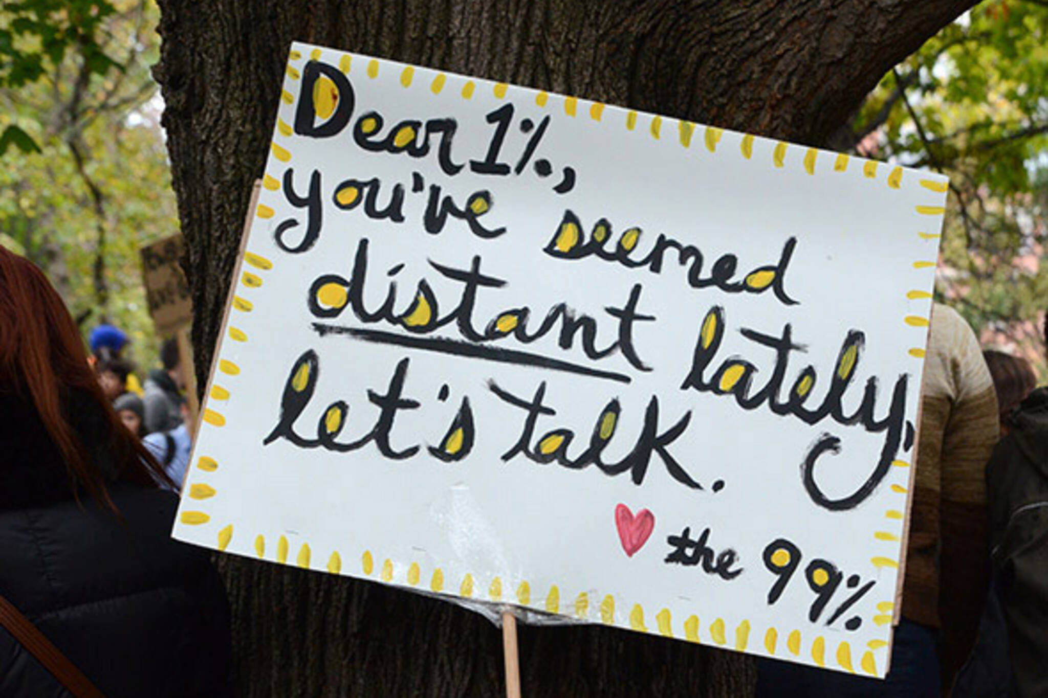 Occupy Toronto protest sign