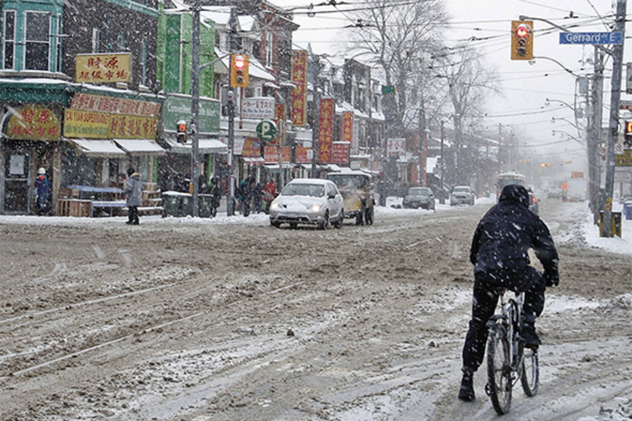 winter bike lanes toronto