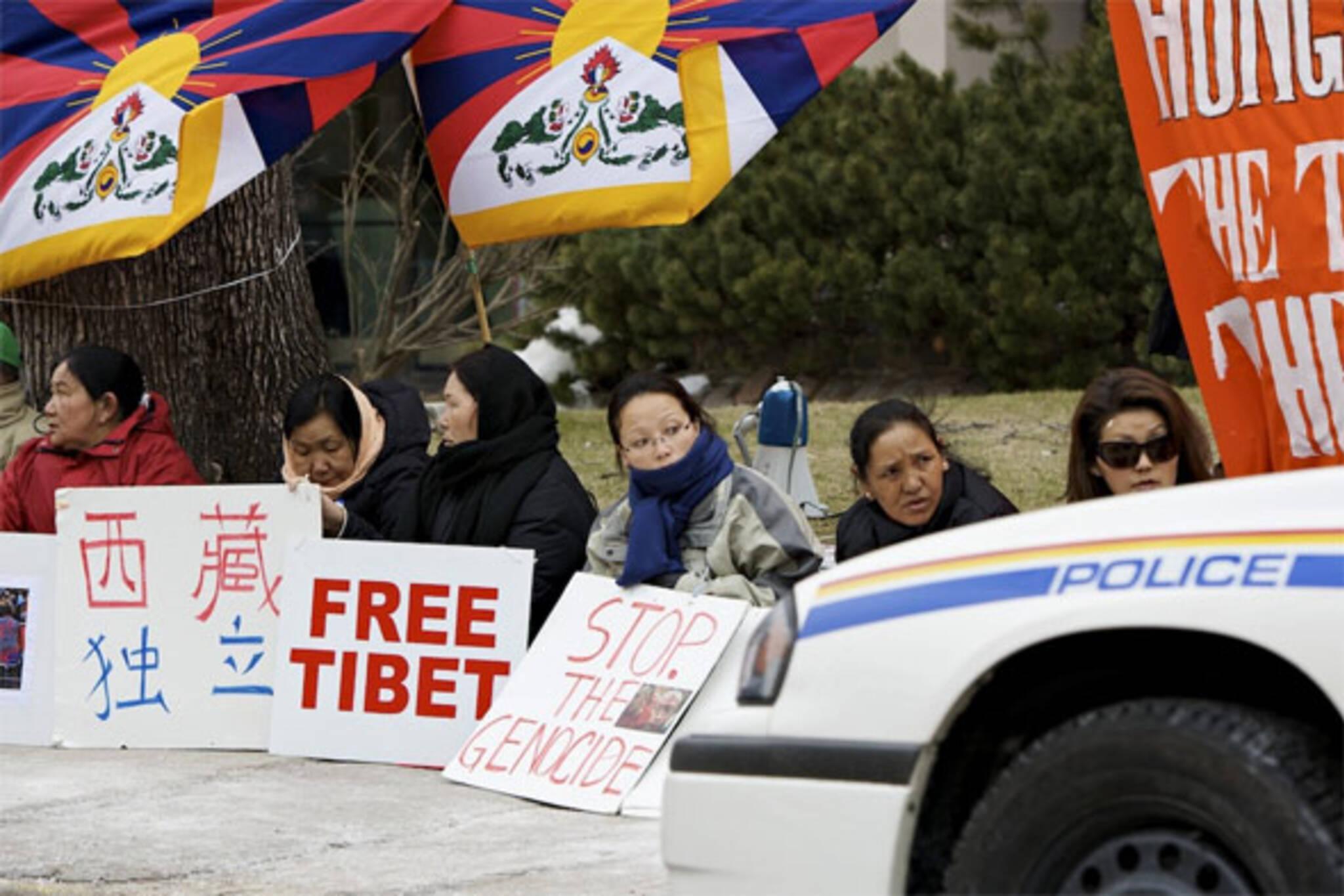 tibet toronto hunger strike