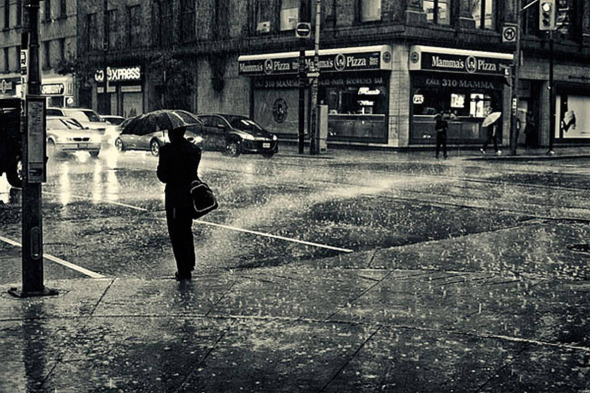 rain, night, storm