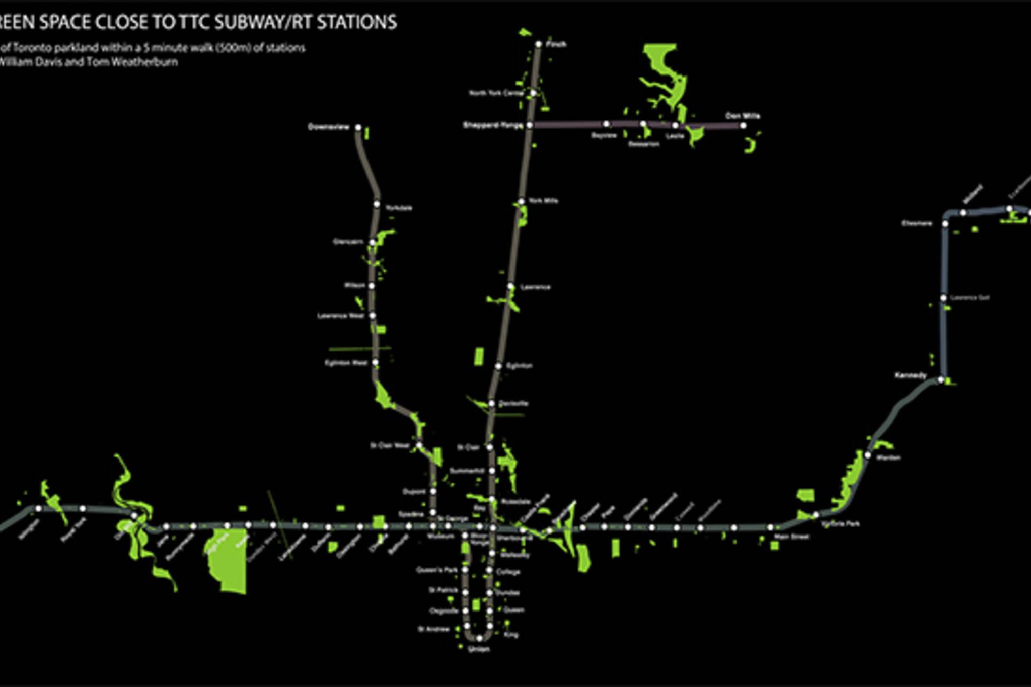 TTC parks map