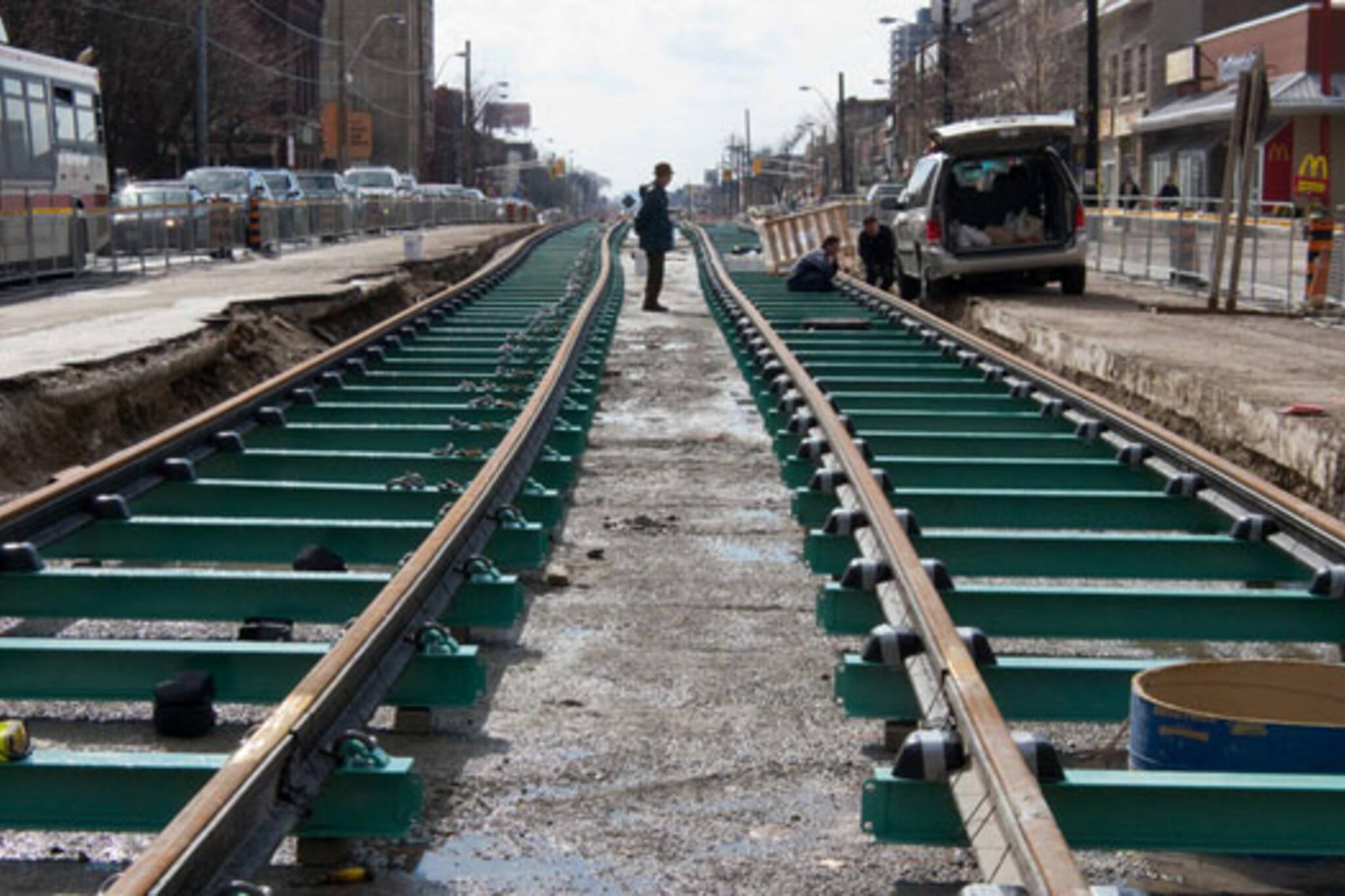 ttc streetcar track construction