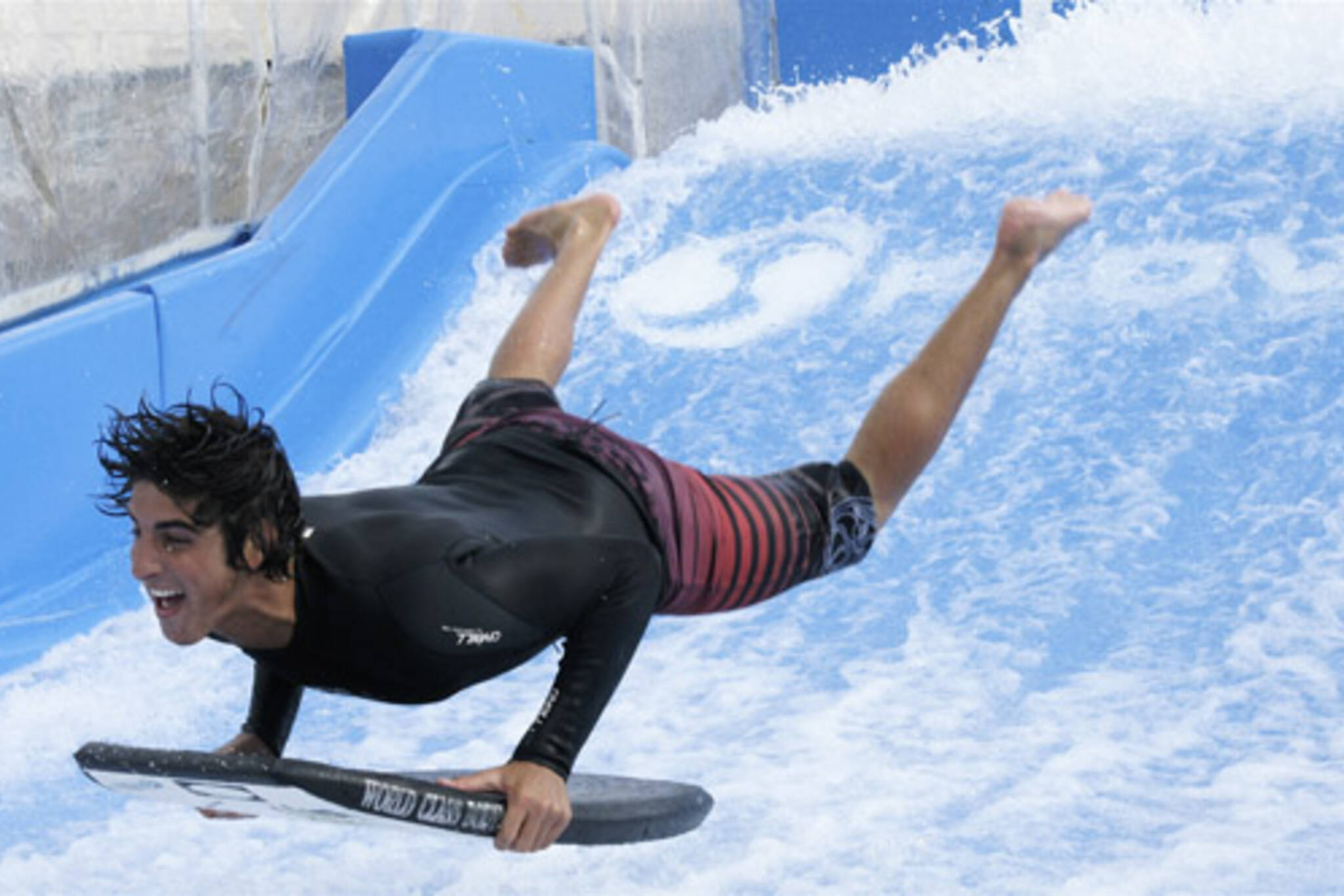 Flowrider demo at the CNE