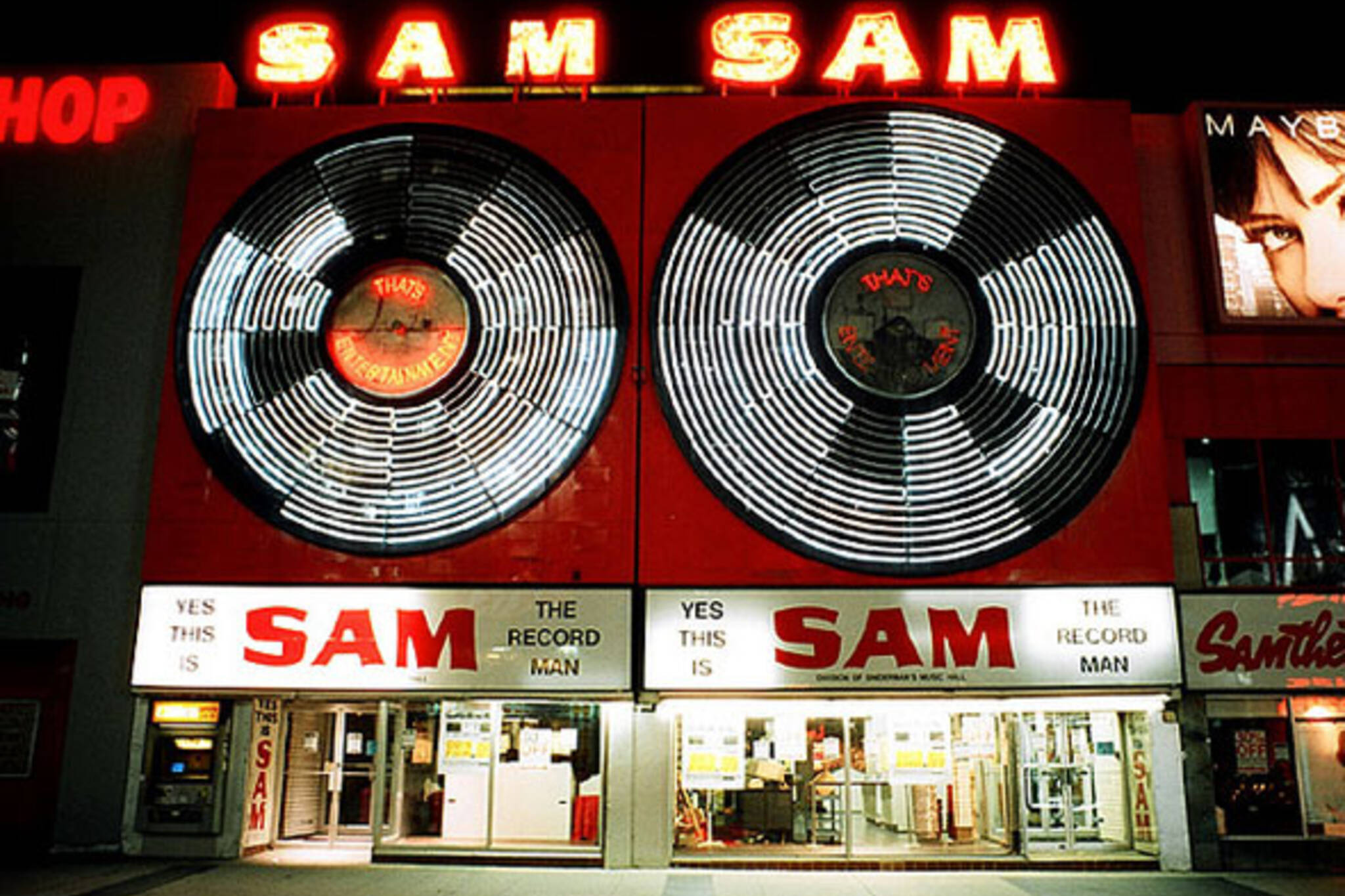 Sam Record Man Sign