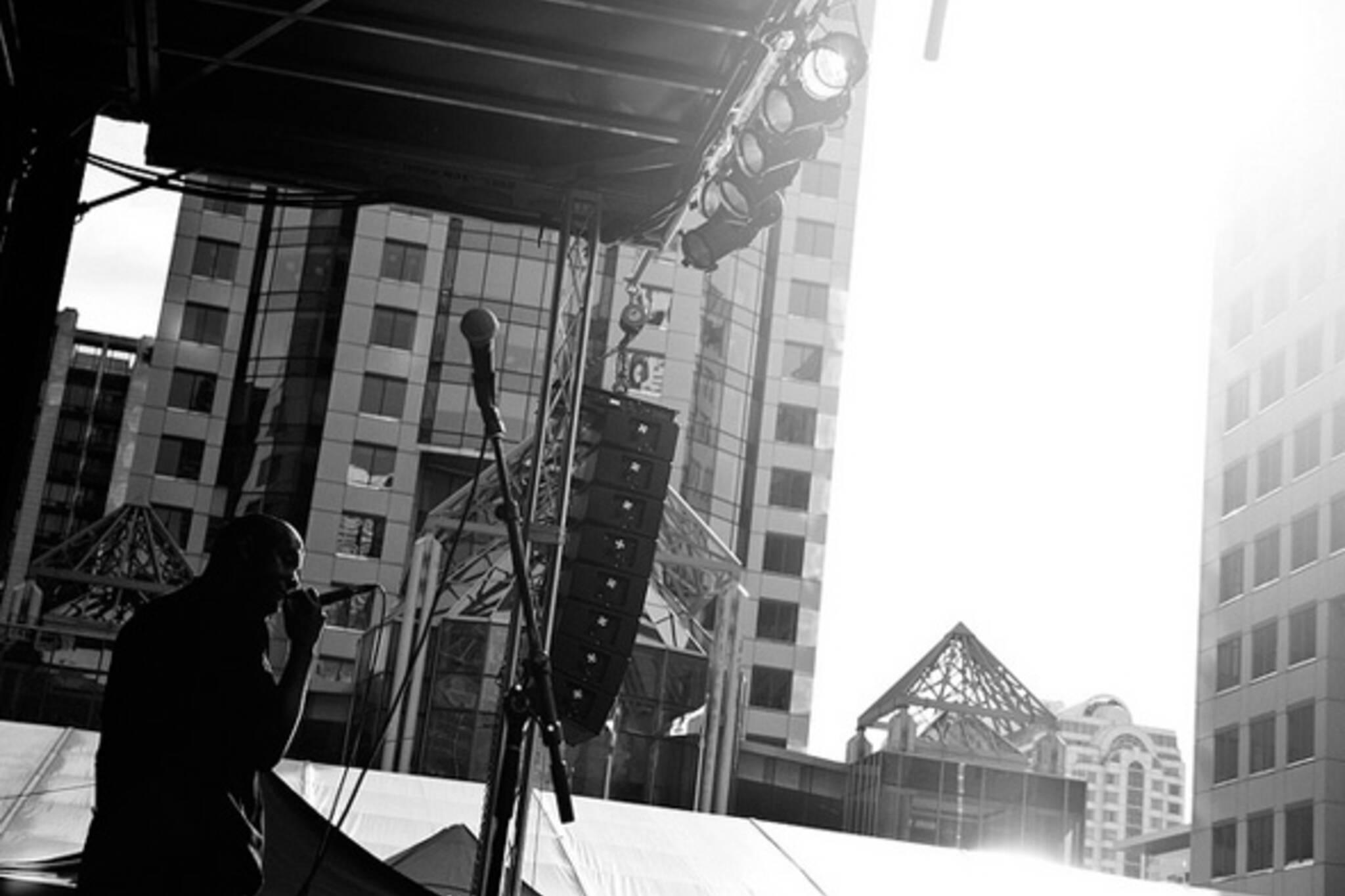 music, stage, sun