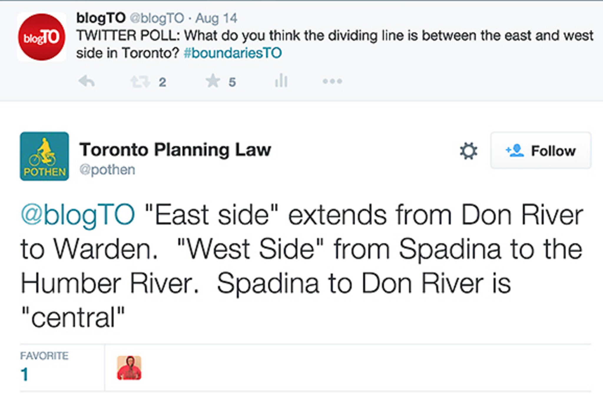 east vs west toronto