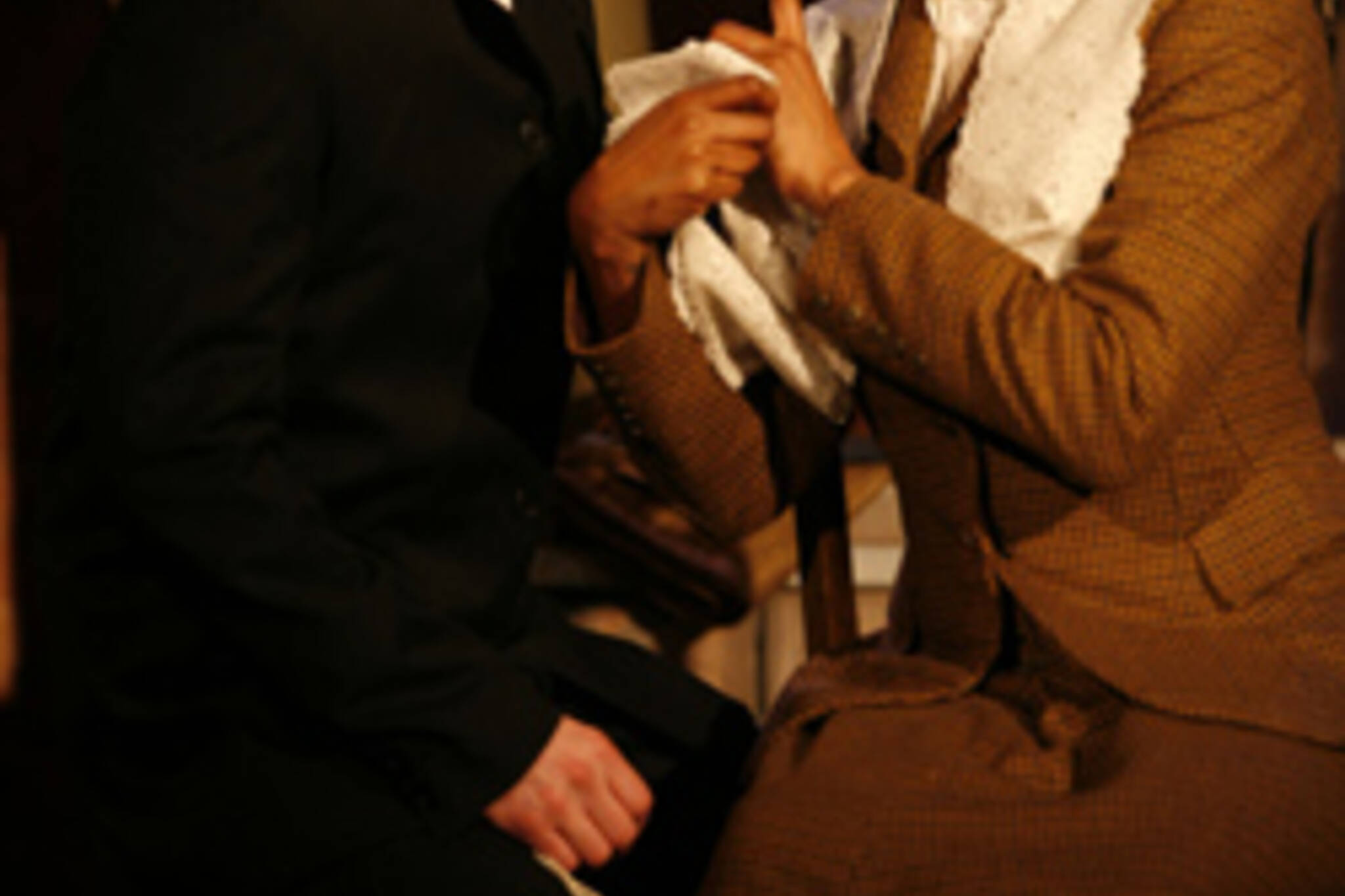Alex Poch-Goldin and Raven Dauda in Intimate Apparel