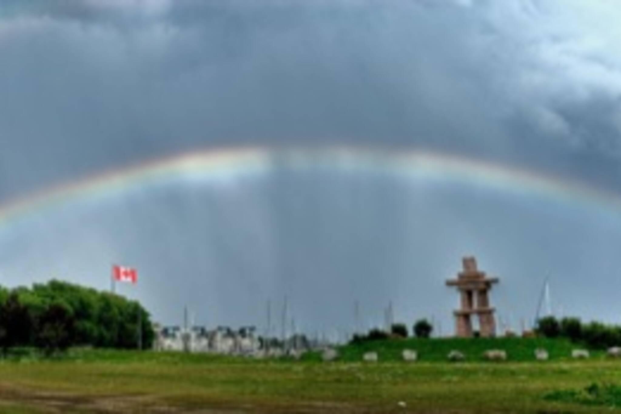 Toronto Rainbowed Sky