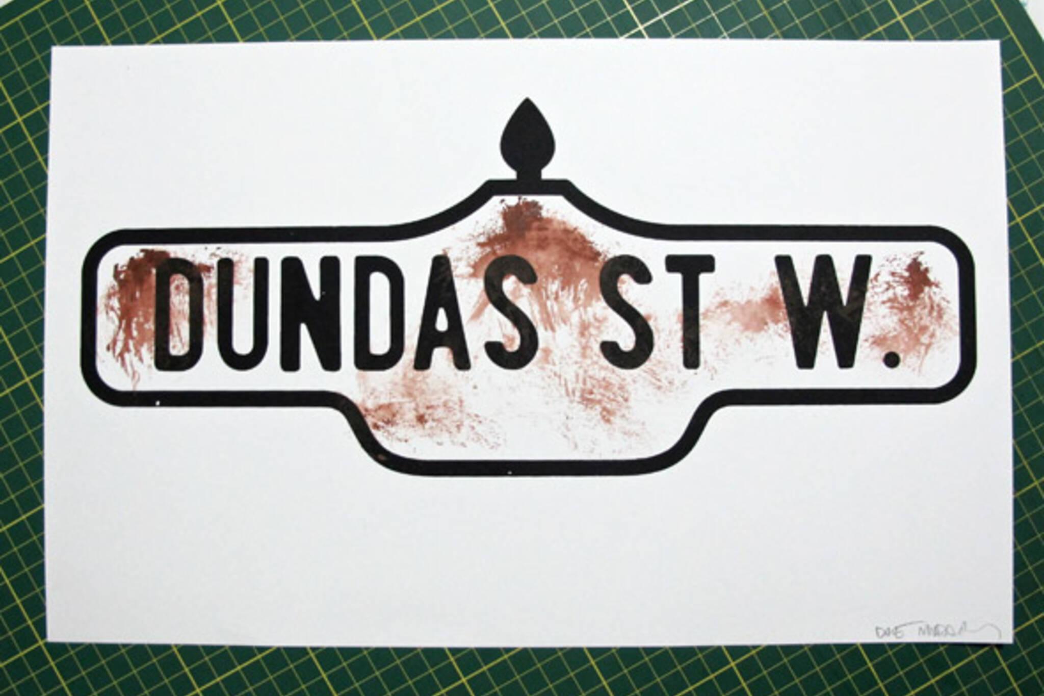 Toronto Street Sign Posters