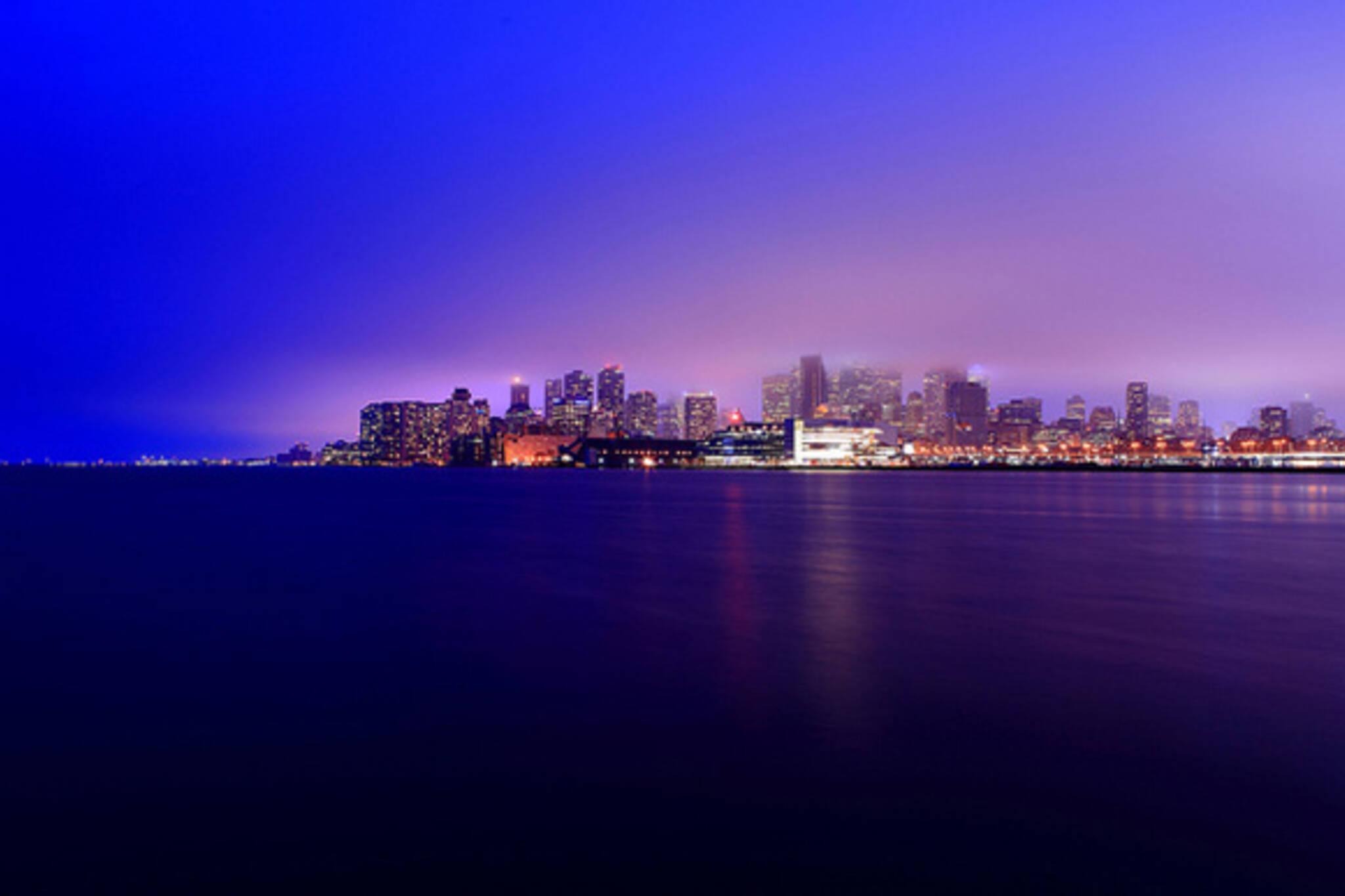 Toronto skyline fog