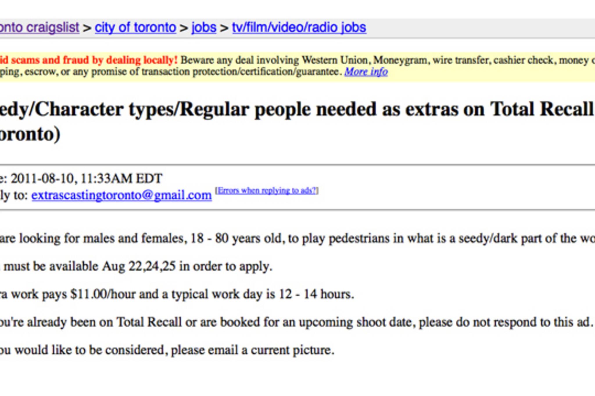Total Recall Toronto
