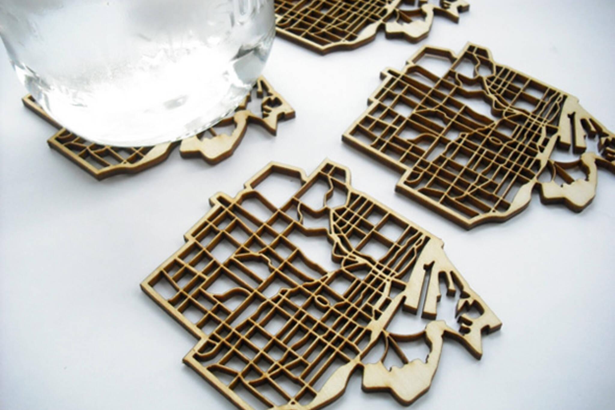 Toronto map coasters