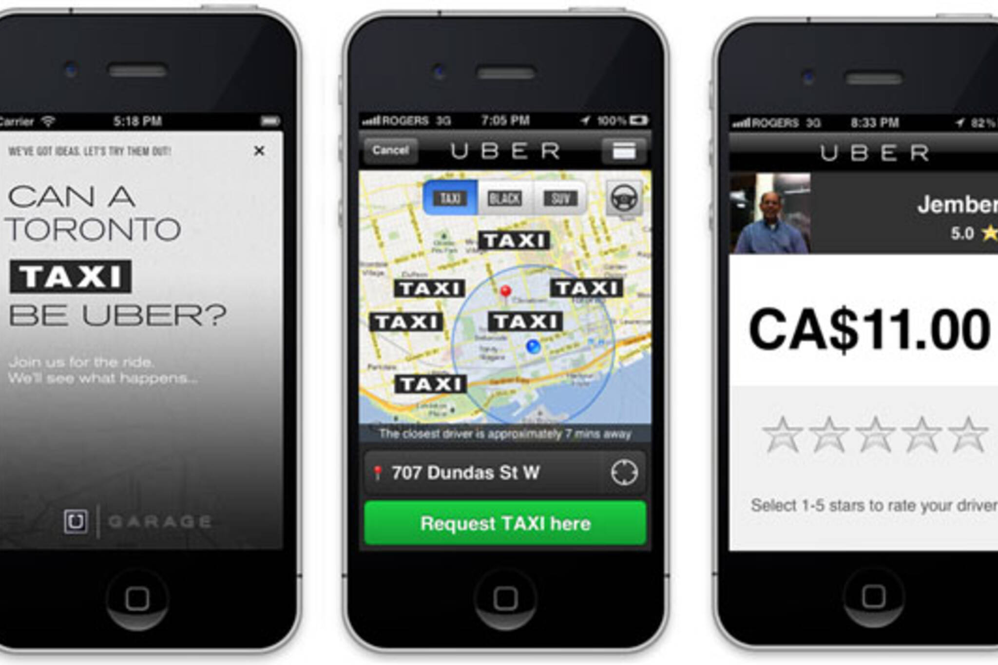 Uber Taxi Licencing