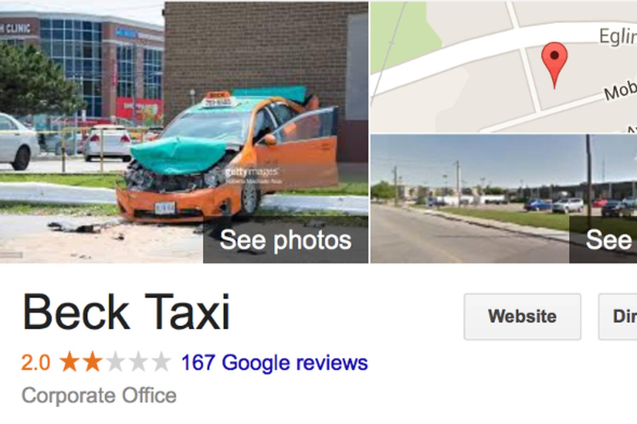 Beck taxi Toronto
