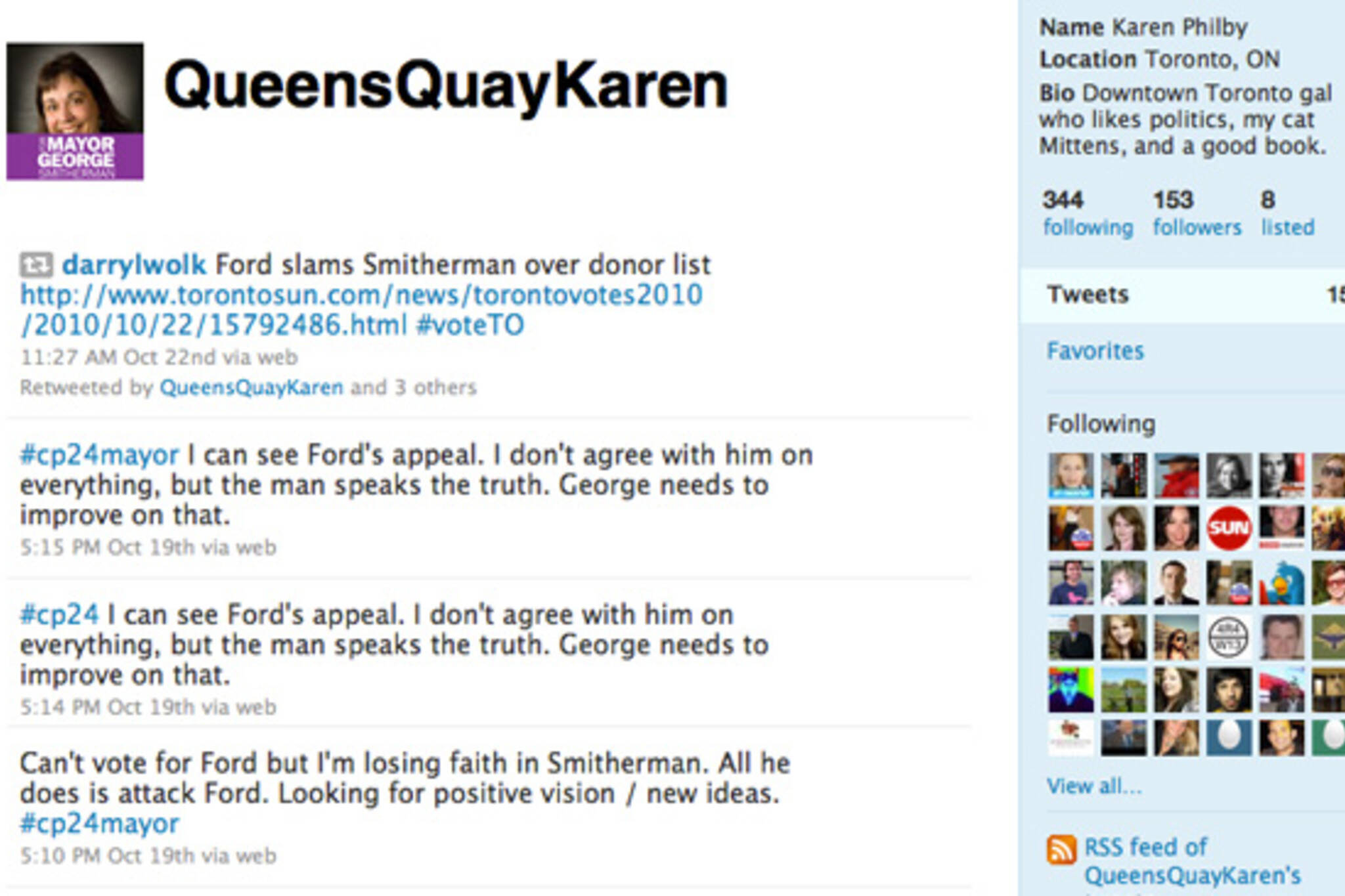 Rob Ford Fake Twitter Queens Quay