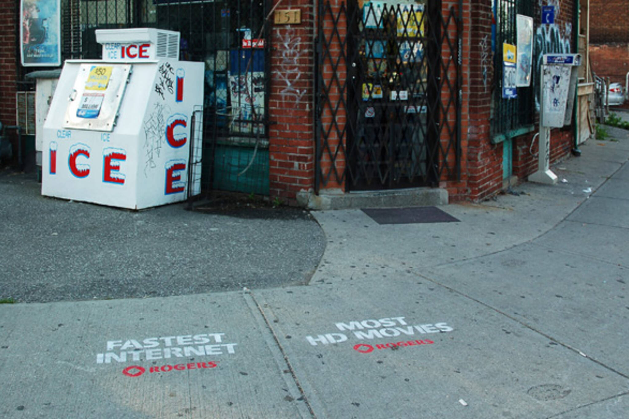 rogers illegal sidewalk ads