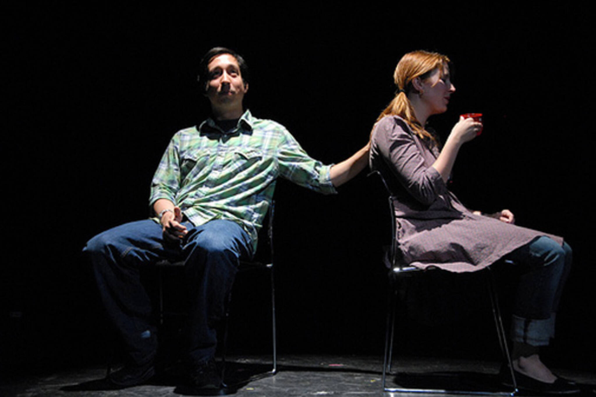 10,000 To Flight do improv combined with live flash animation in Toronto
