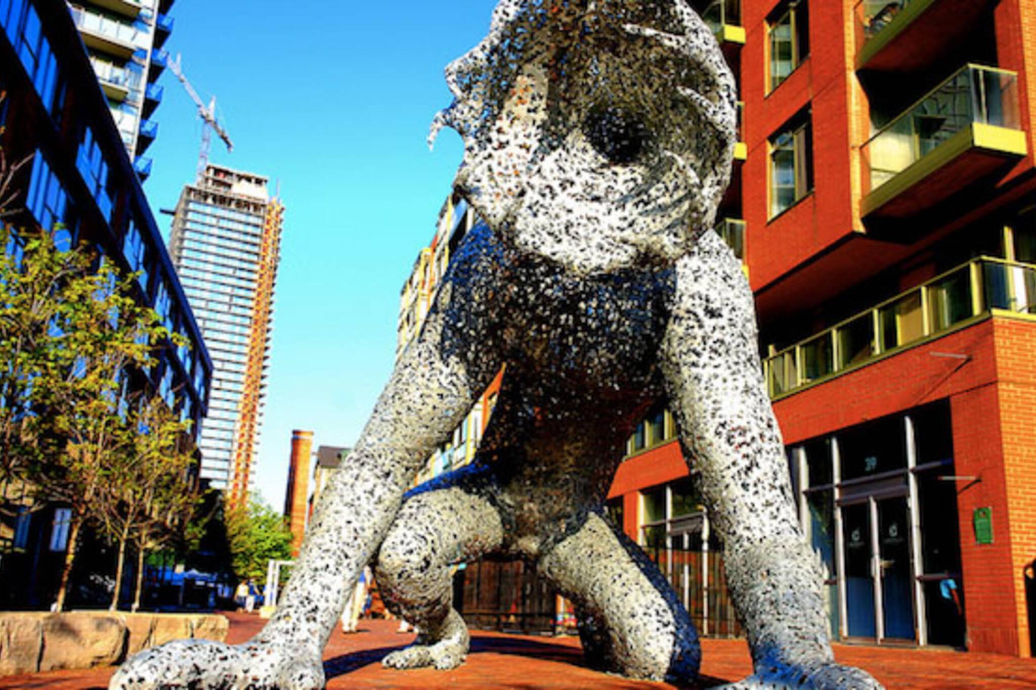 toronto distillery monster statue