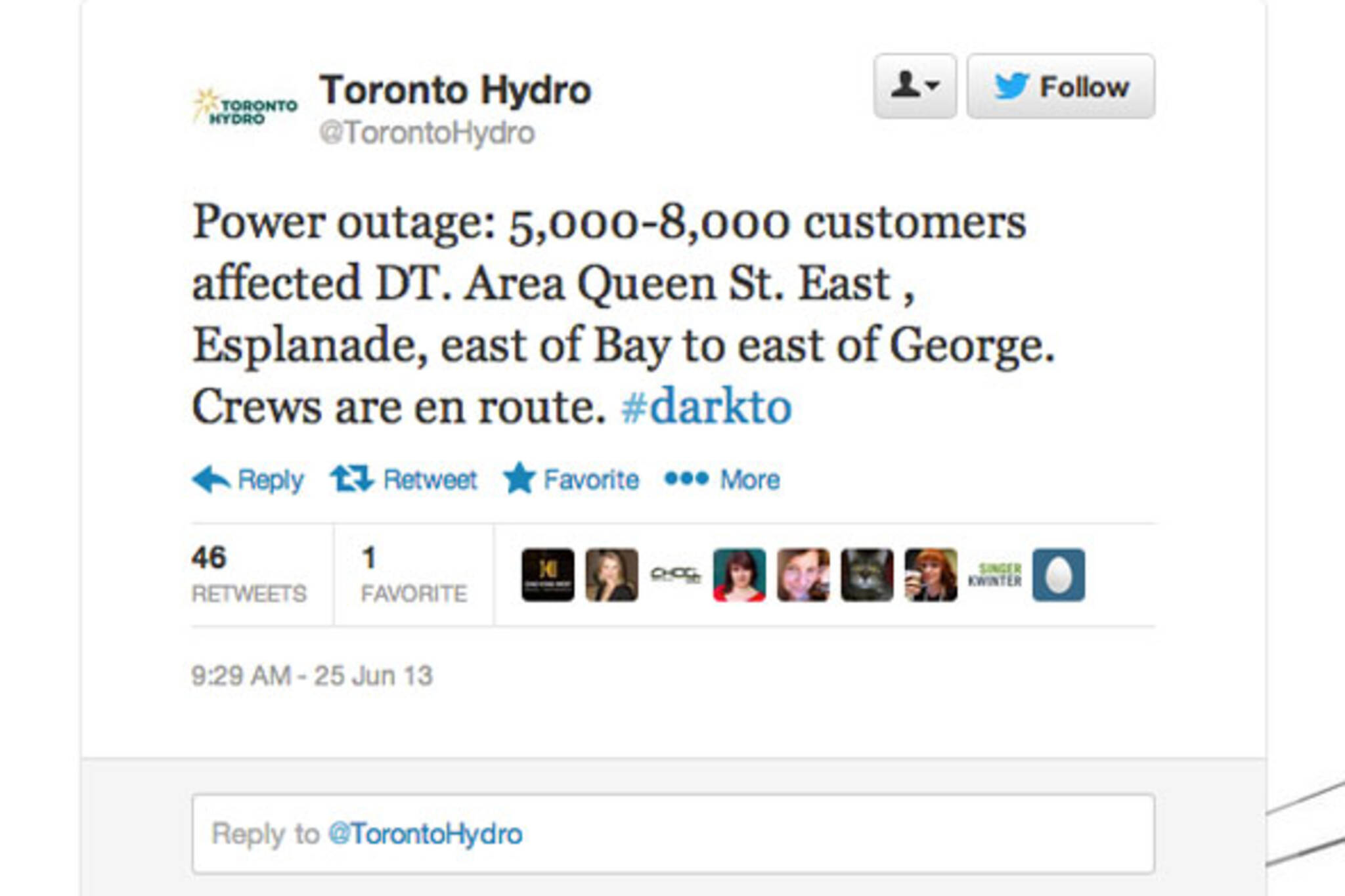 toronto power out