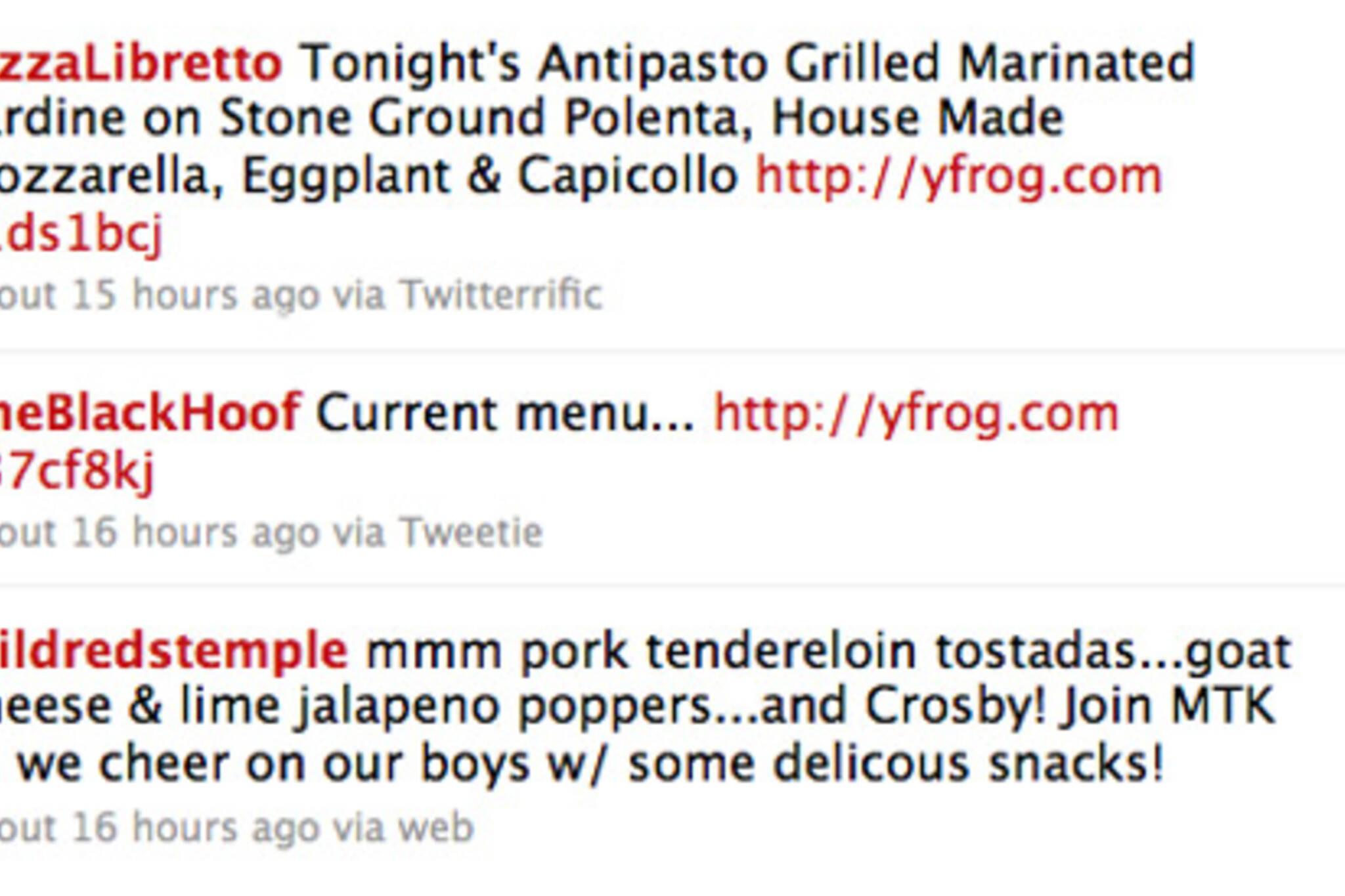 toronto restaurants social media